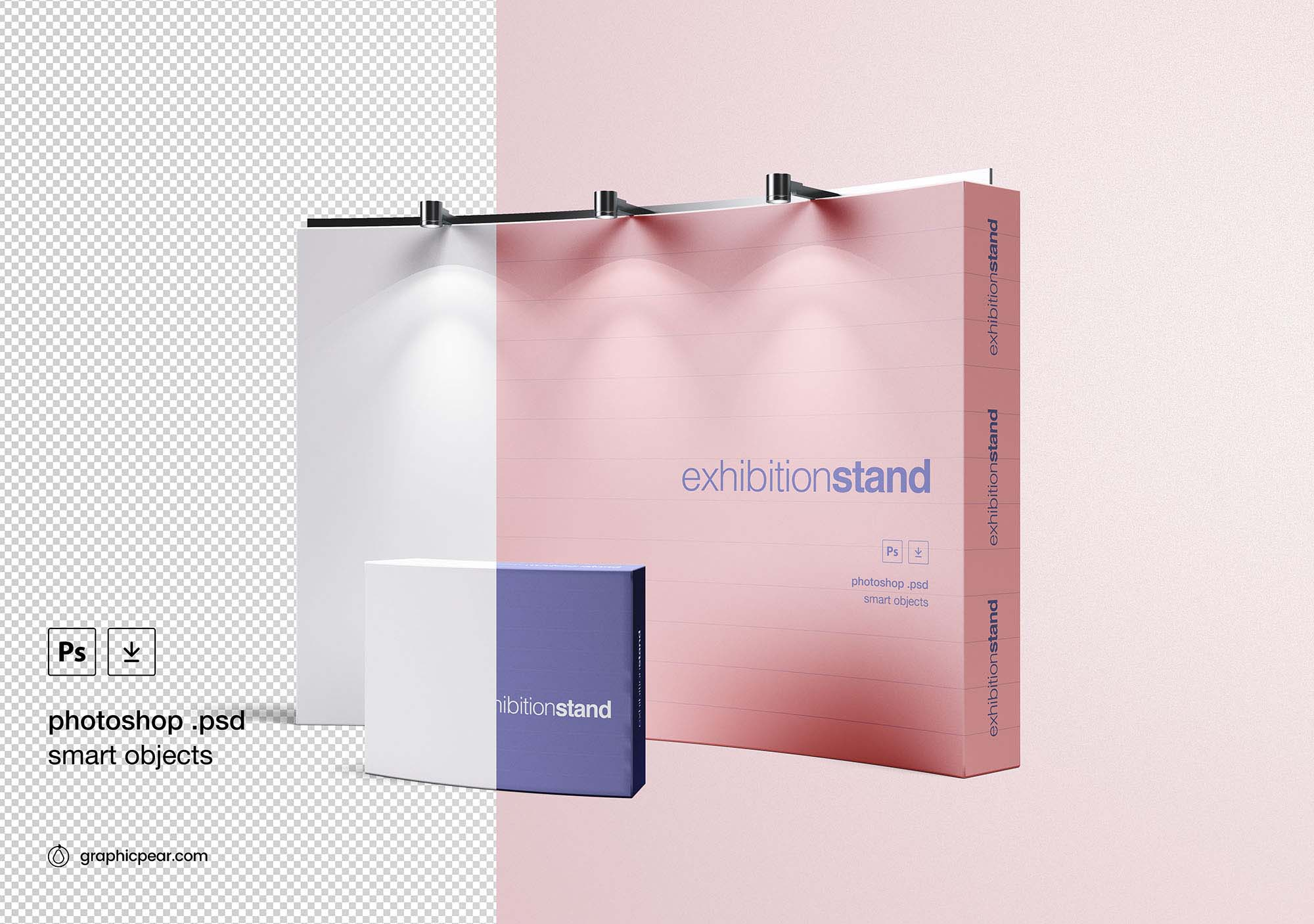 Free Simple Exhibition Stand Mockup Psd