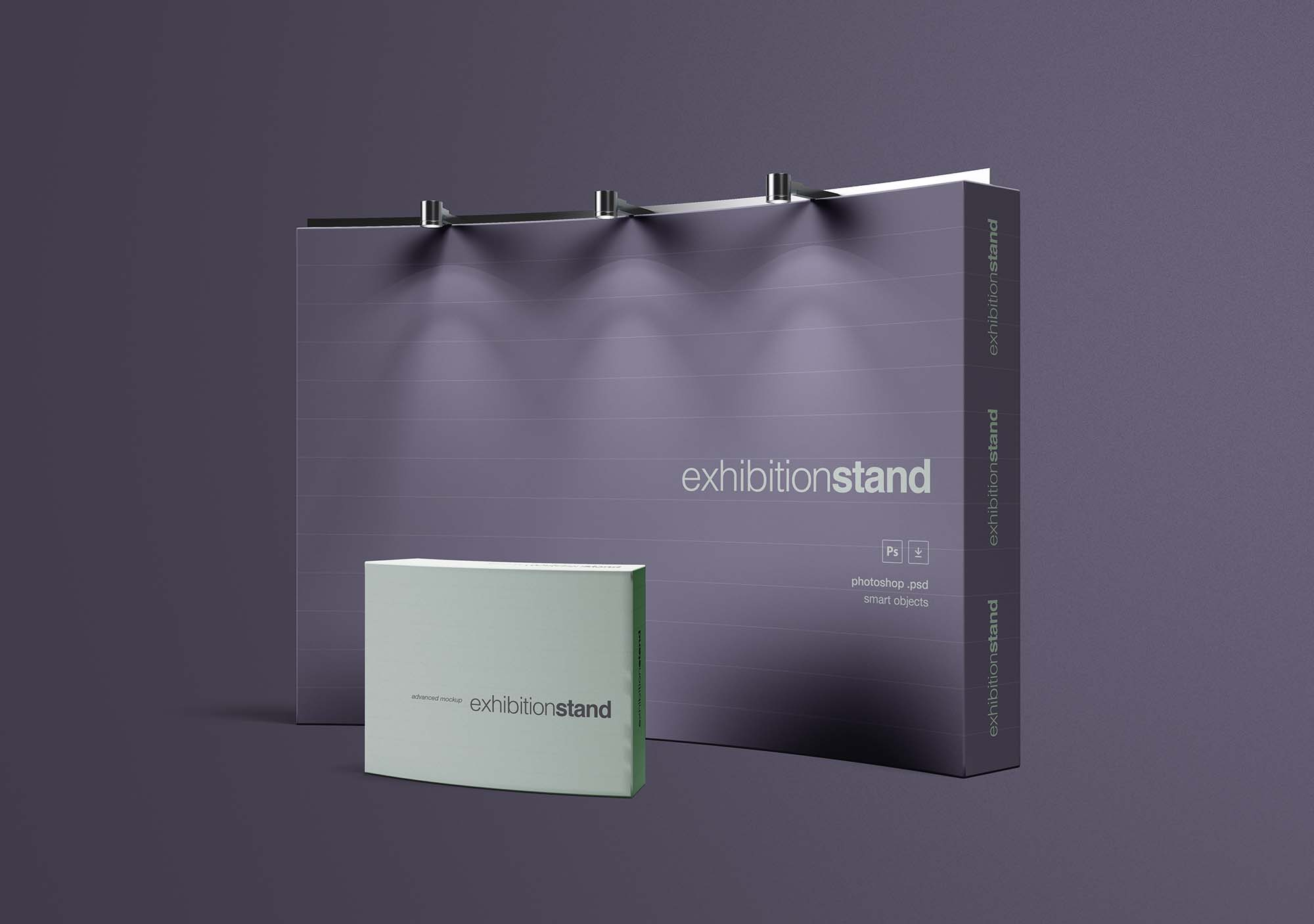 Simple Exhibition Stand : Free simple exhibition stand mockup psd