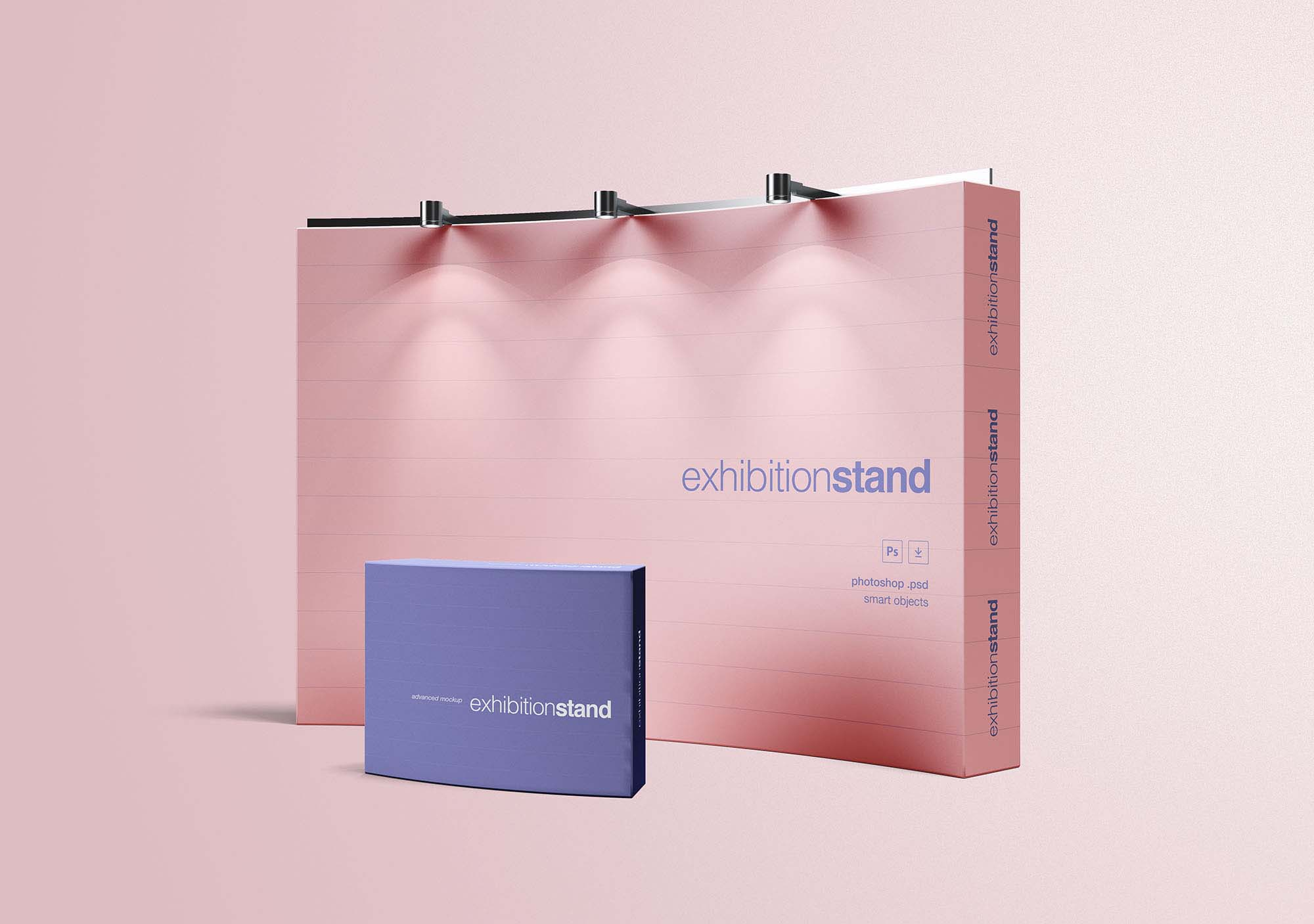 Simple Exhibition Stand Design : Free simple exhibition stand mockup psd