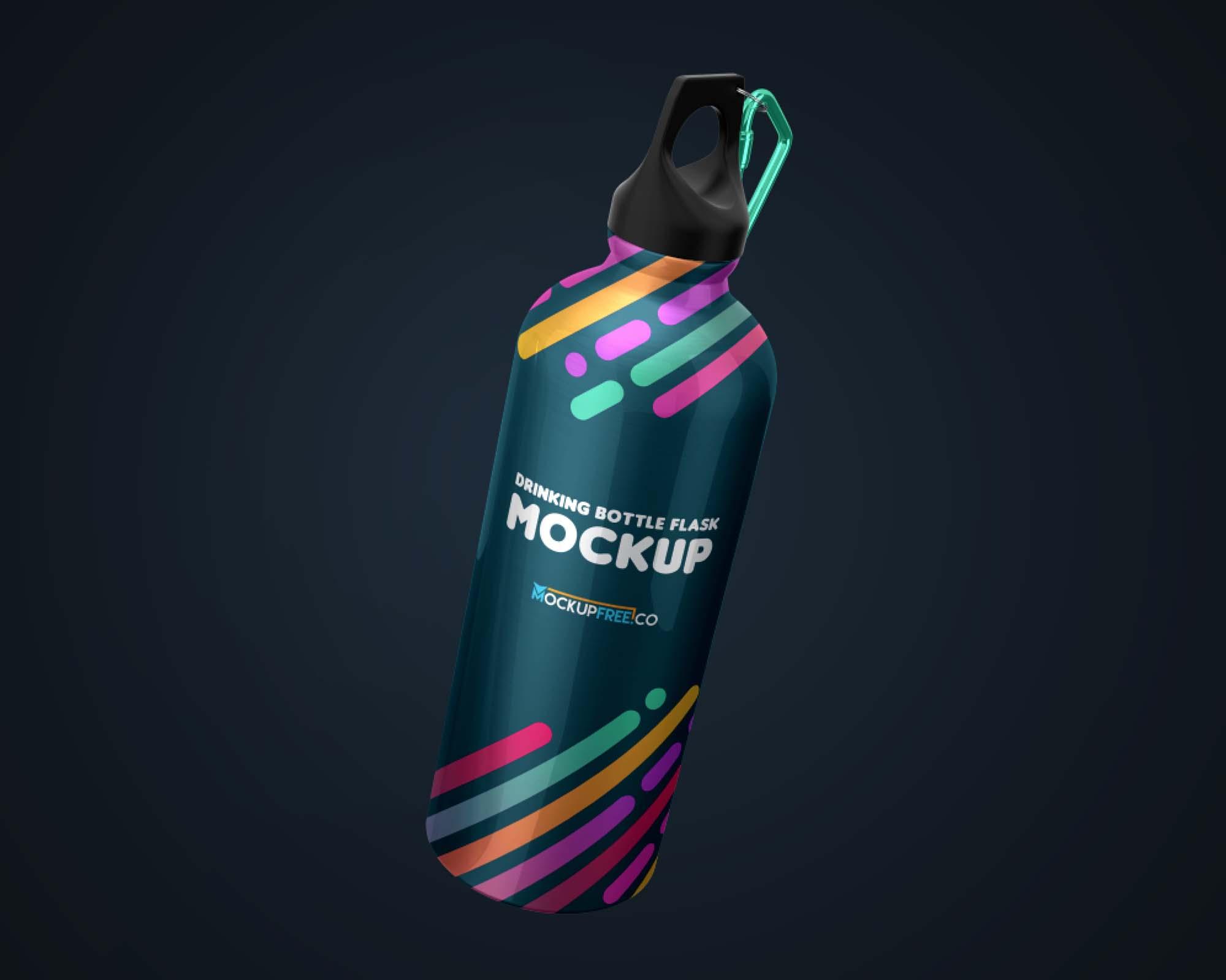 Flask Water Bottle Mockup