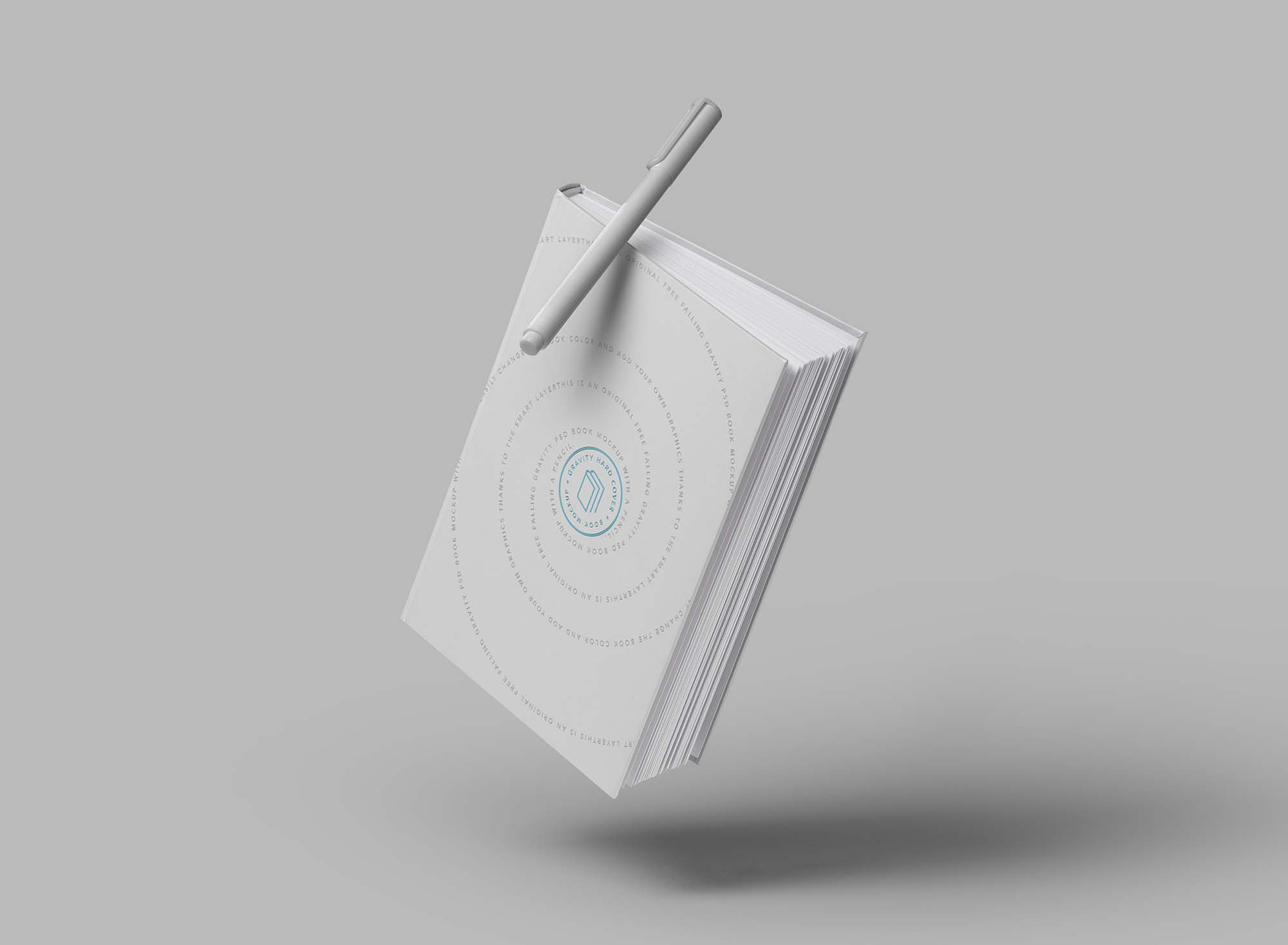 Gravity Hard Cover Book Mockup