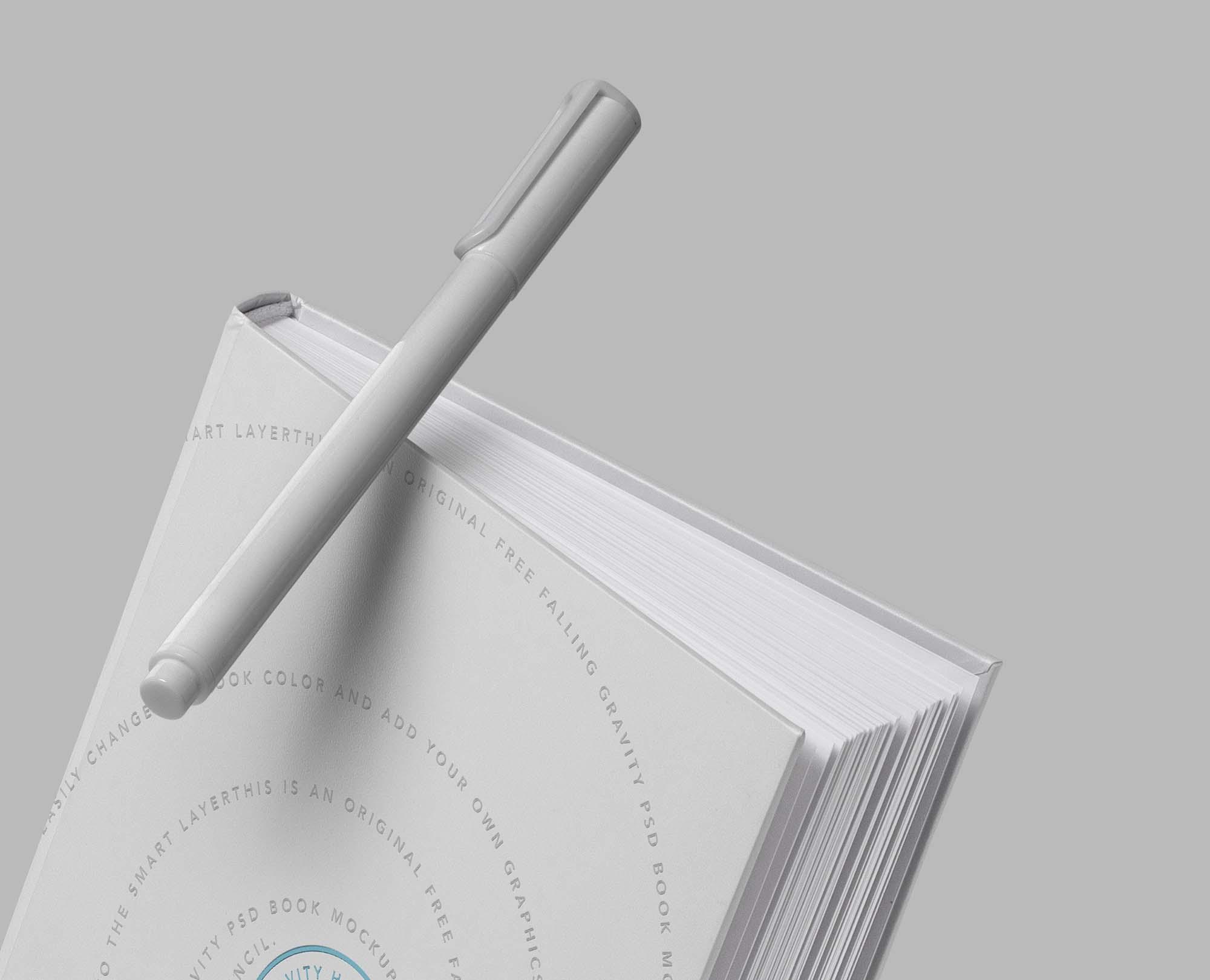 Gravity Hard Cover Book Mockup