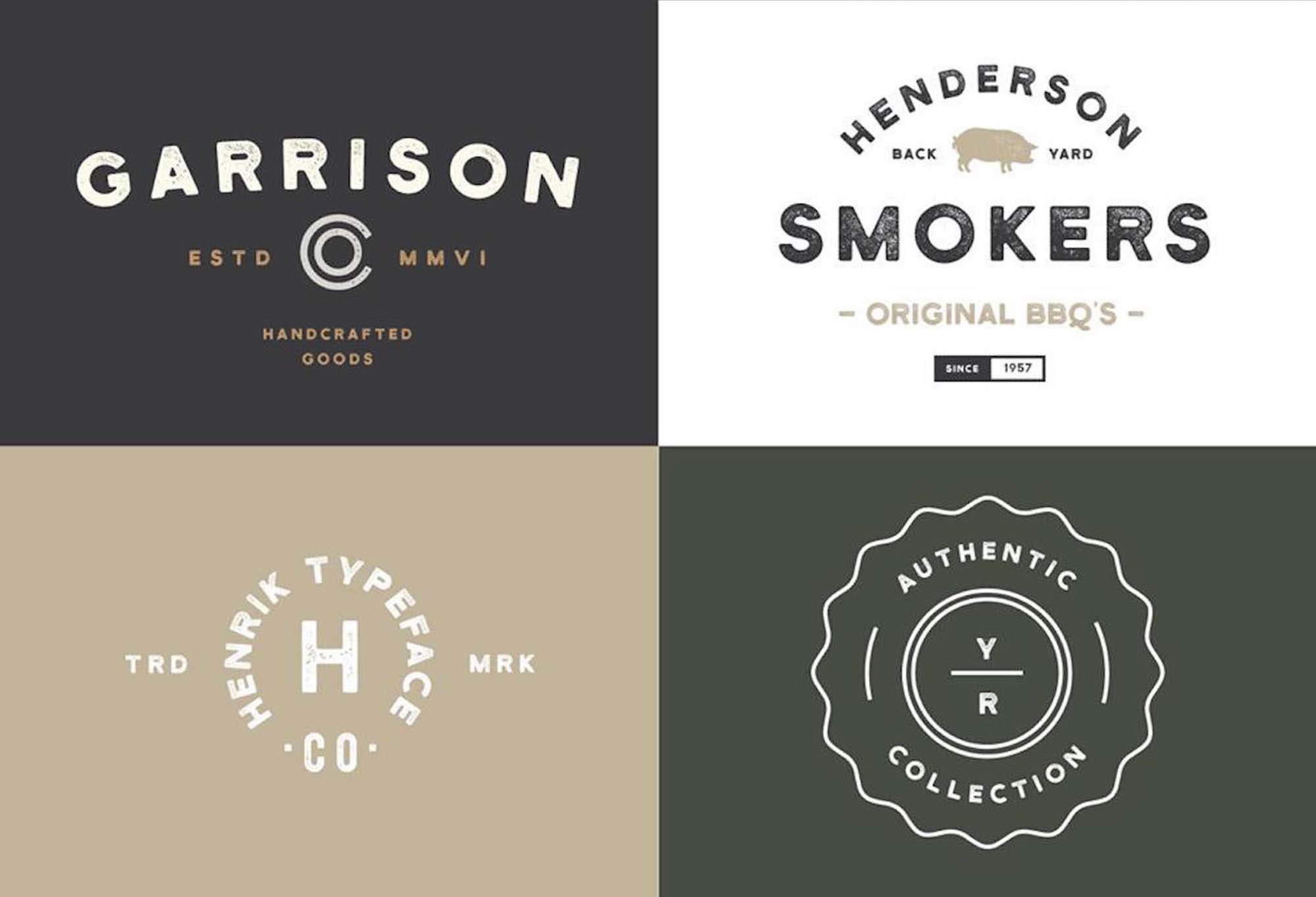 Henrik Font Logos and Badges