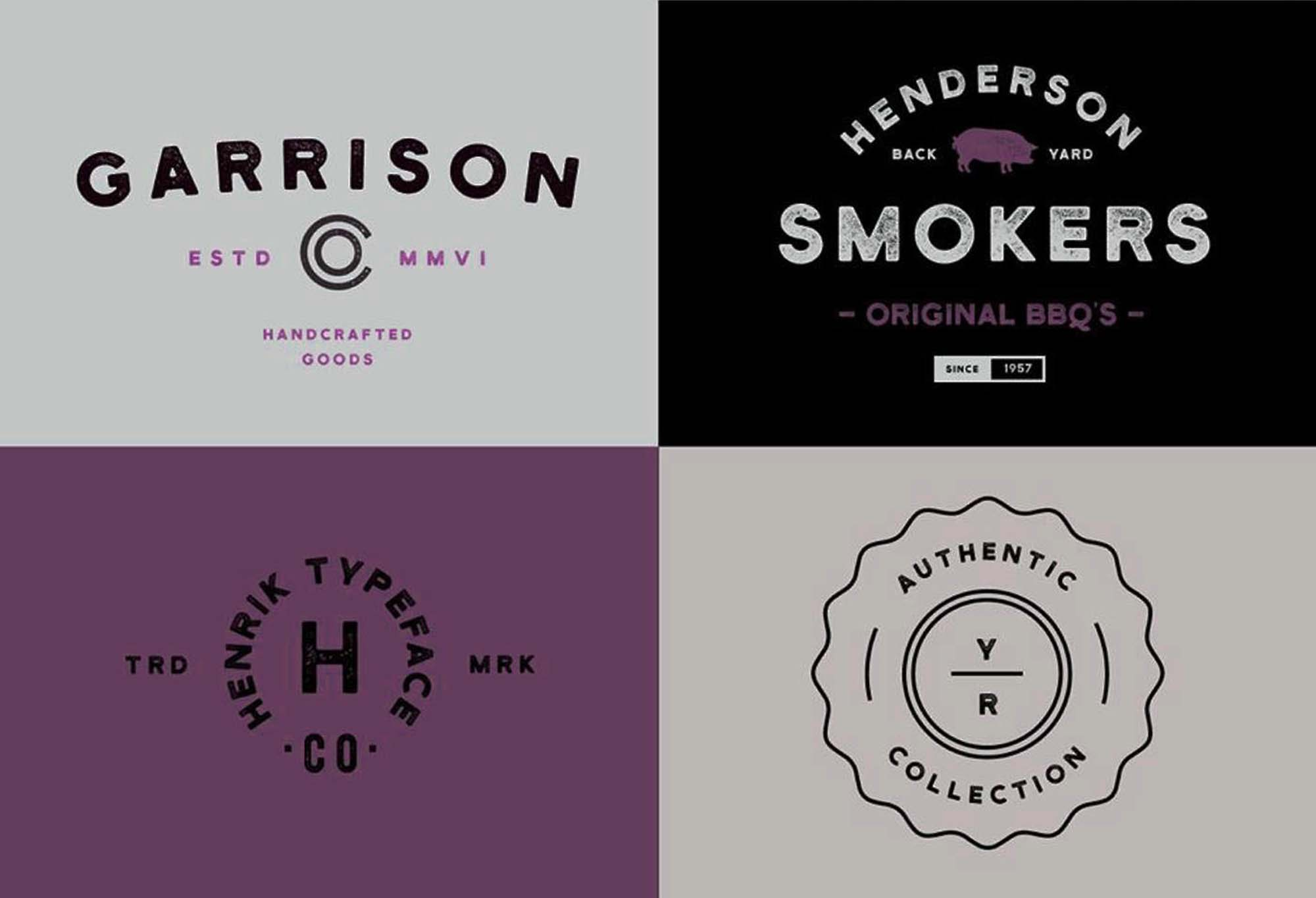 Henrik Font Logos and Badges