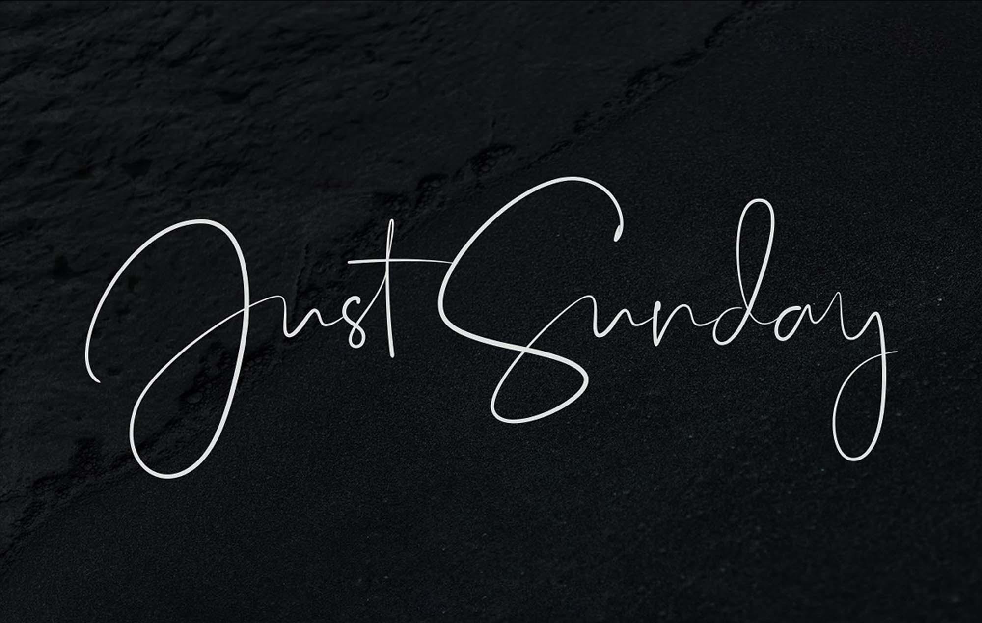 Just Sunday Script Font