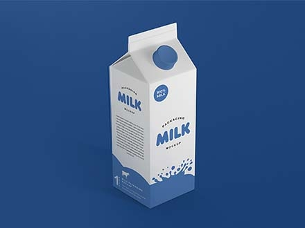 Milk Package Mockup
