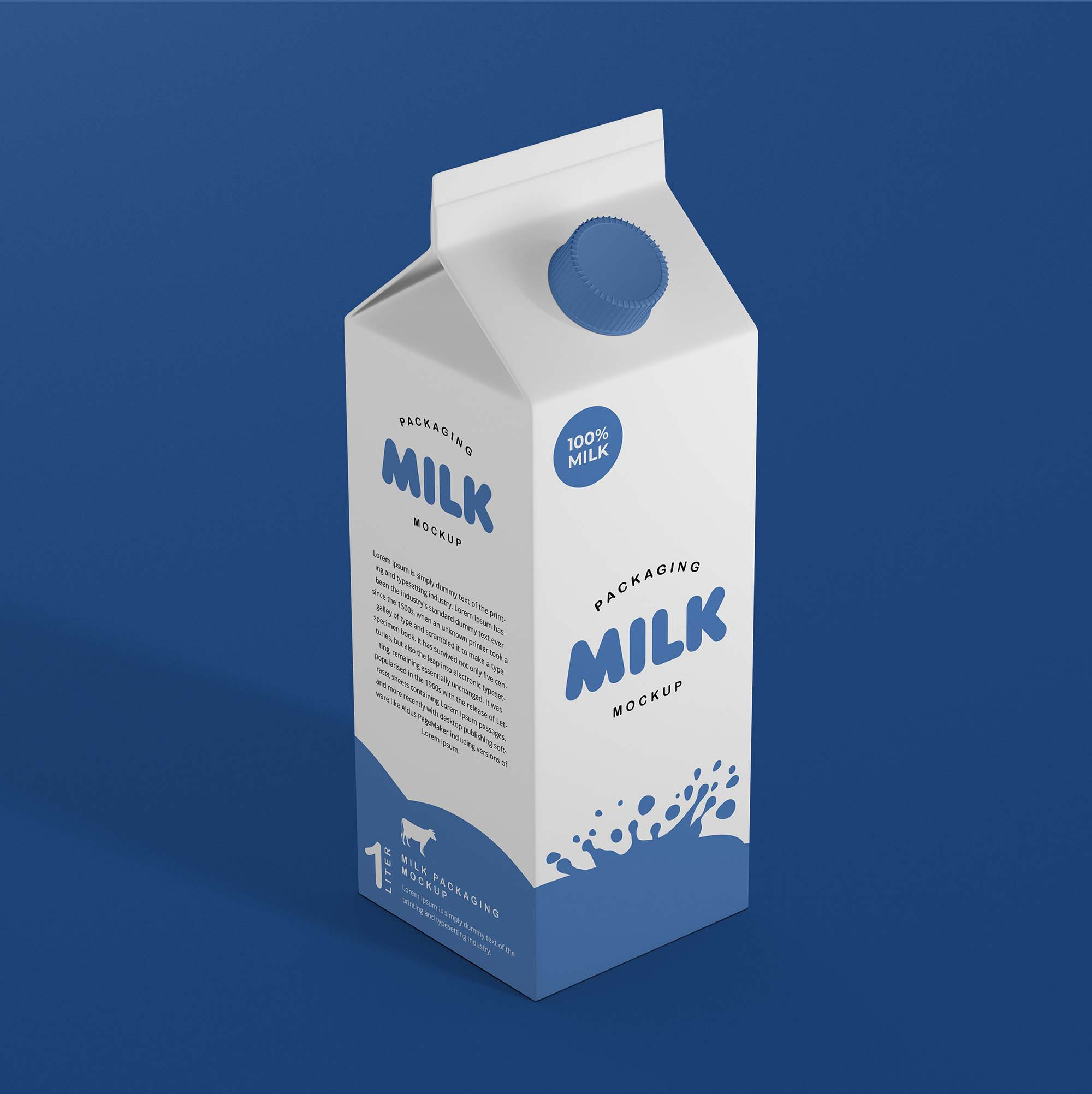 Free Milk Packaging Mockup Psd