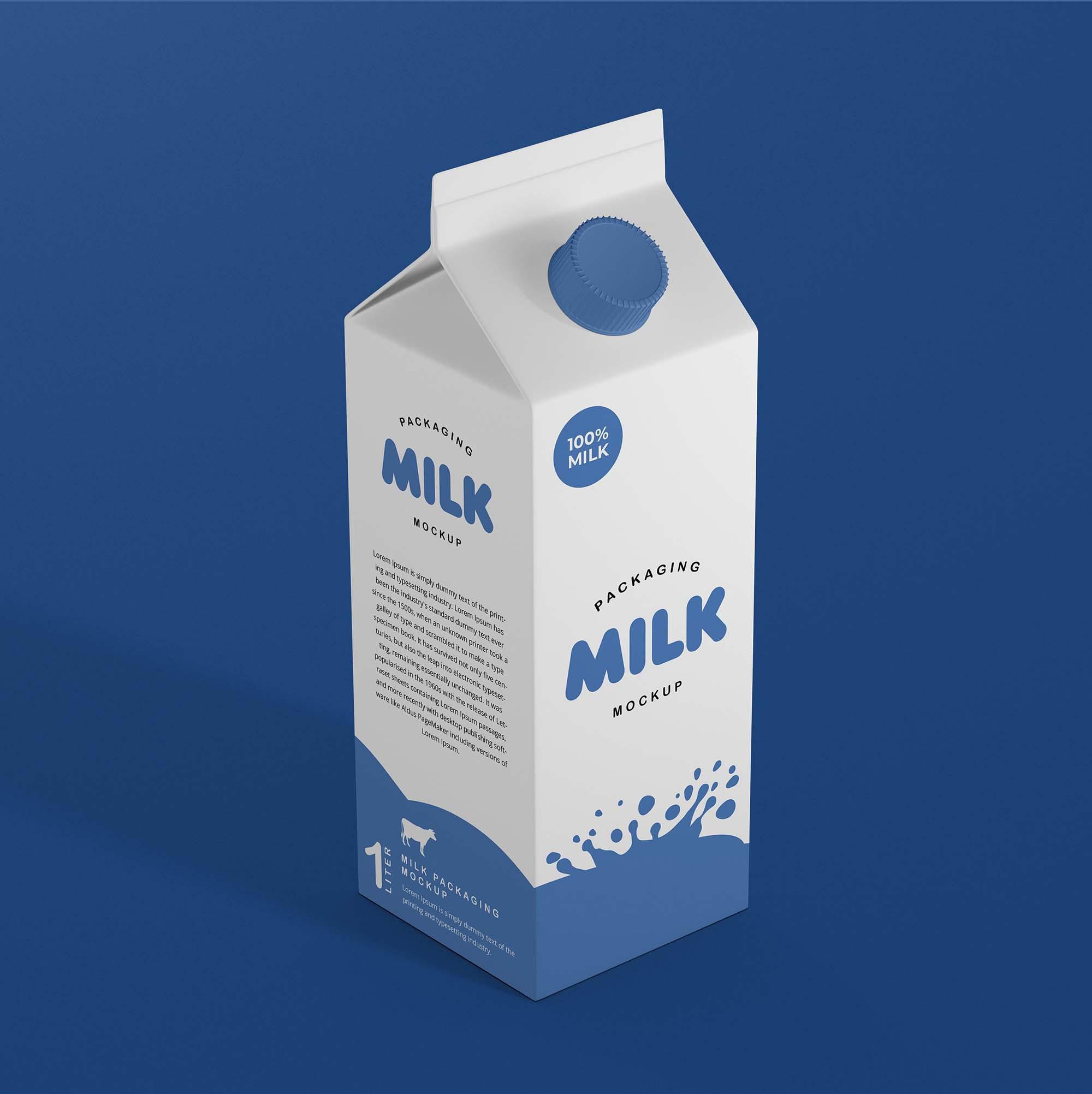 Milk Package Mockup