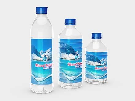 Mineral Bottles Mockup
