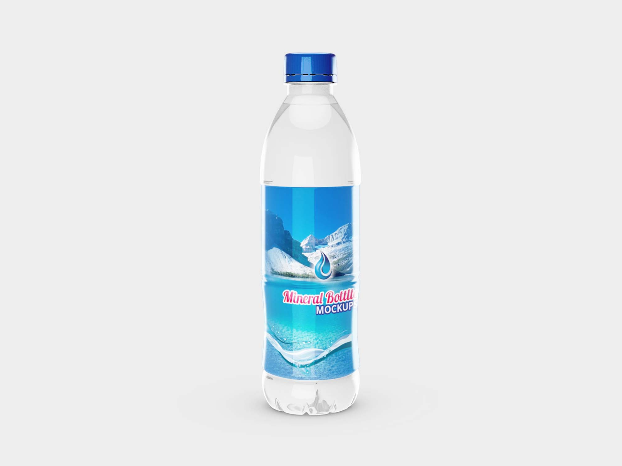 Big Mineral Bottle Mockup