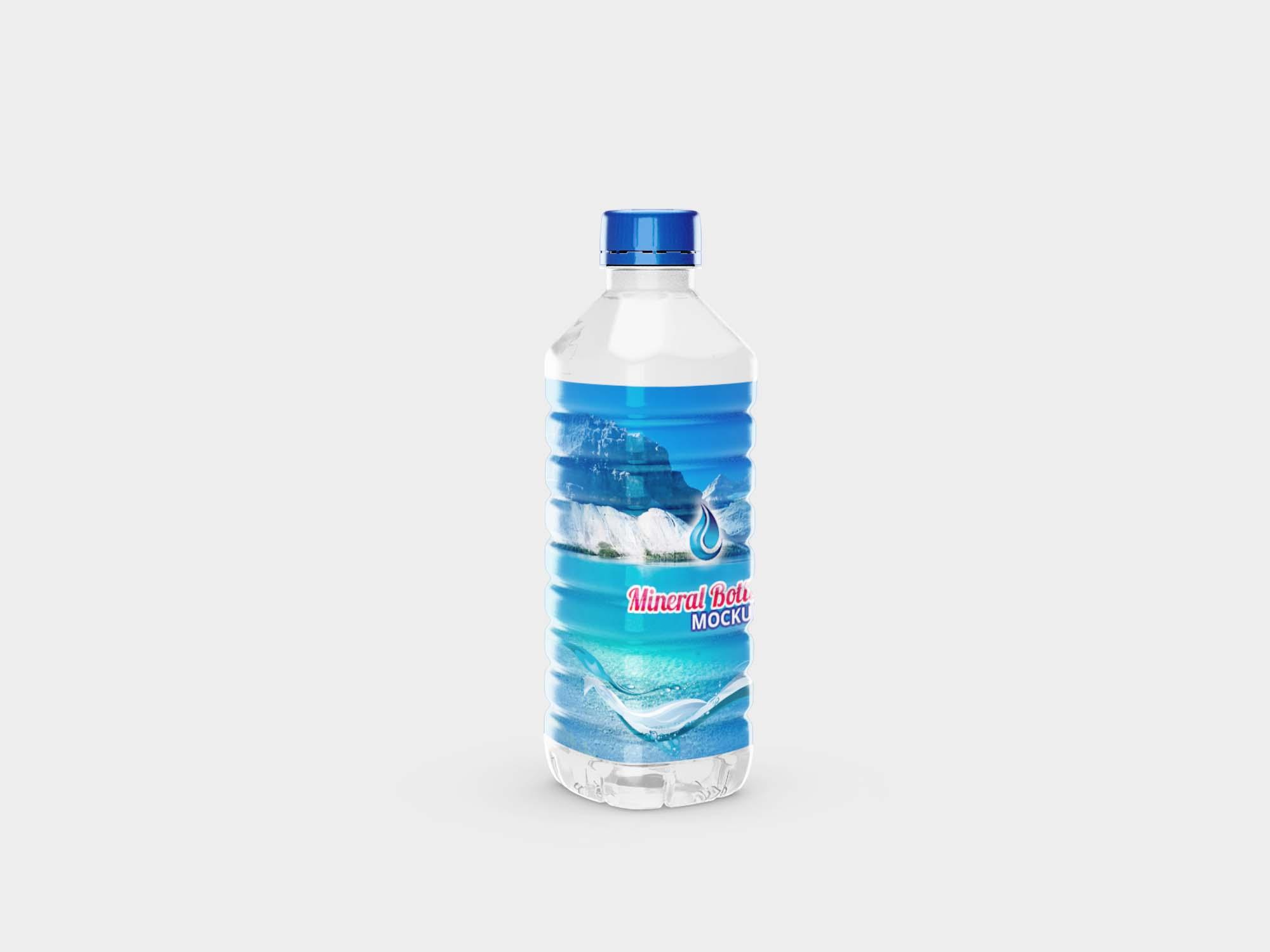 Medium Mineral Bottle Mockup