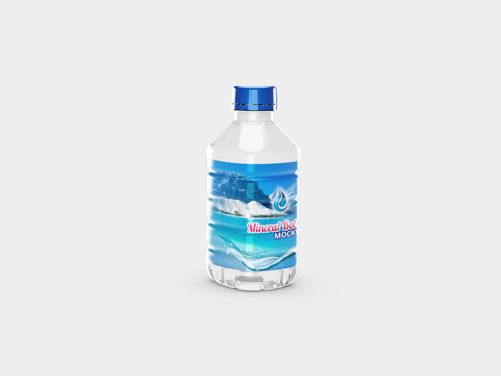 Small Mineral Bottle Mockup