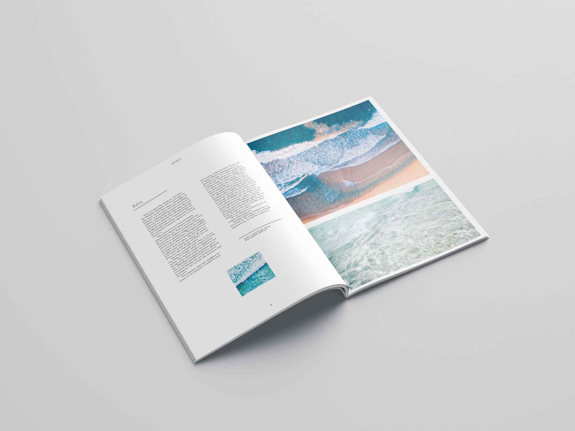 free minimal magazine template 24 pages