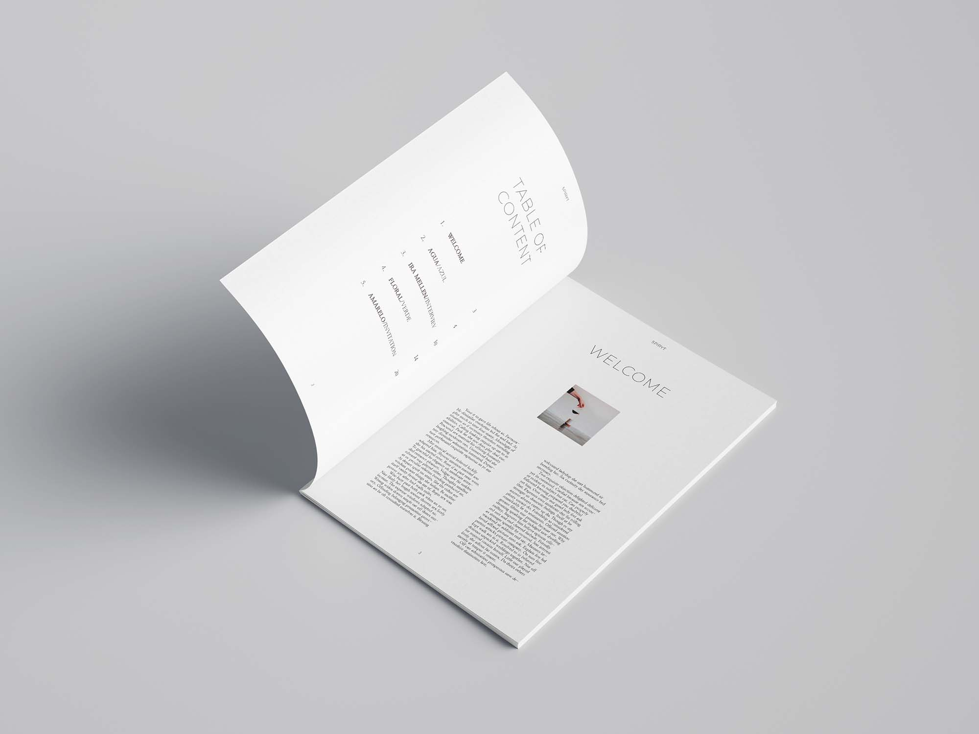 Free Minimal Magazine Template (24 Pages)