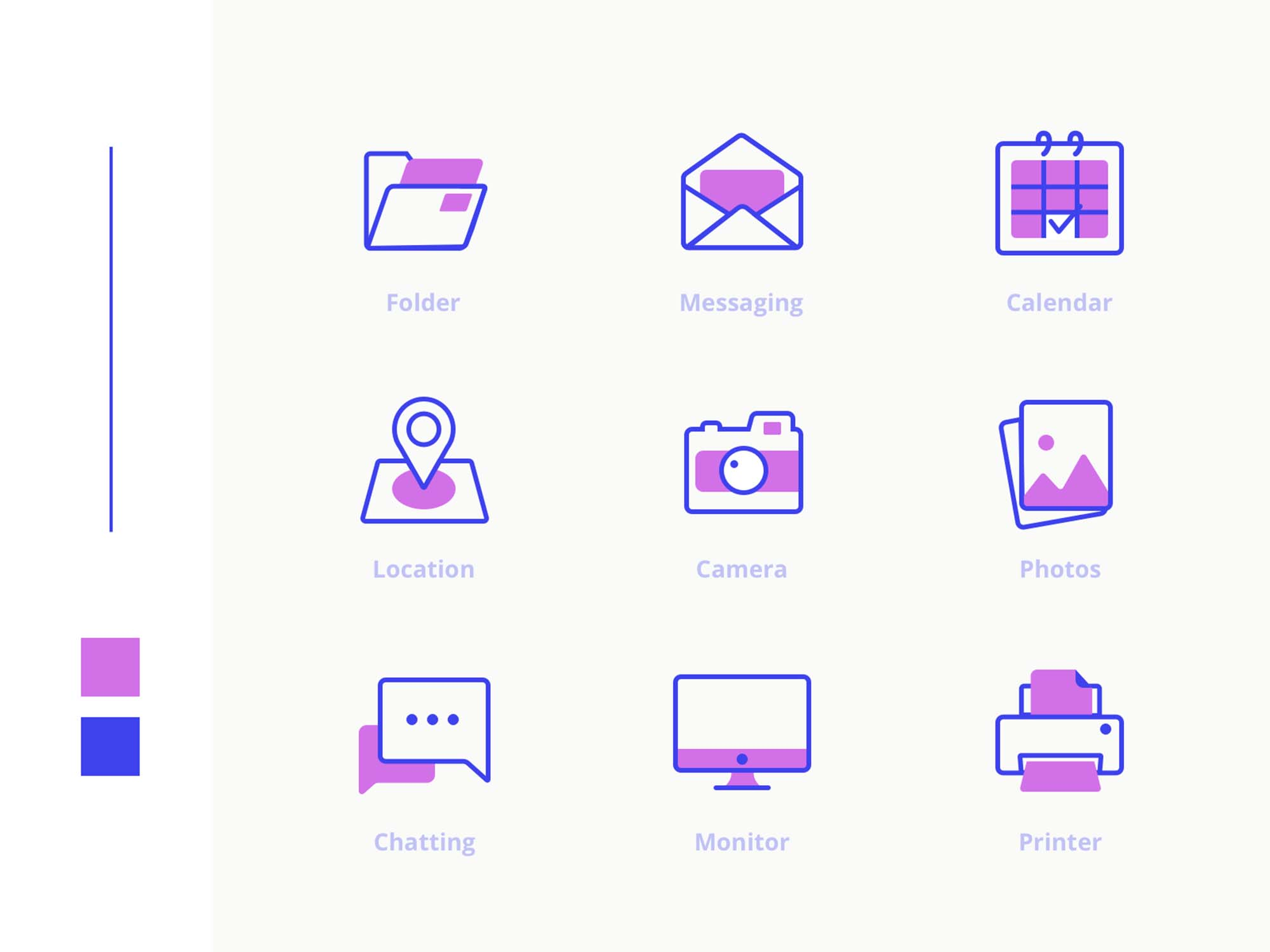 Office Icons Pack Purple