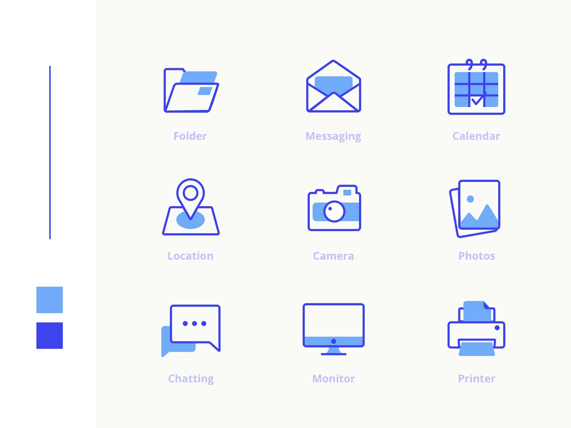 Office Icons Pack Blue
