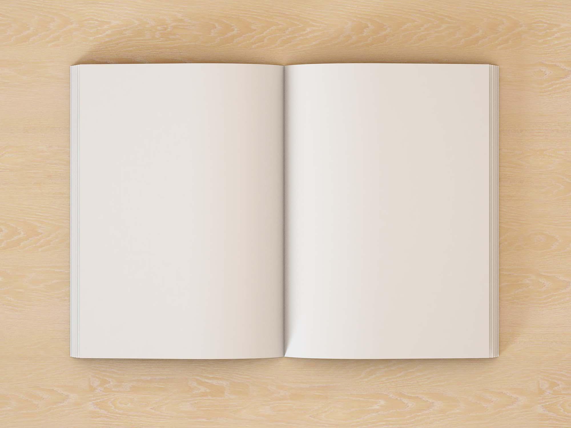 Open Book Mockup