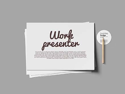 Paper Work Presenter Mockup