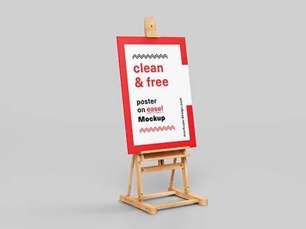 Poster Easel Mockup