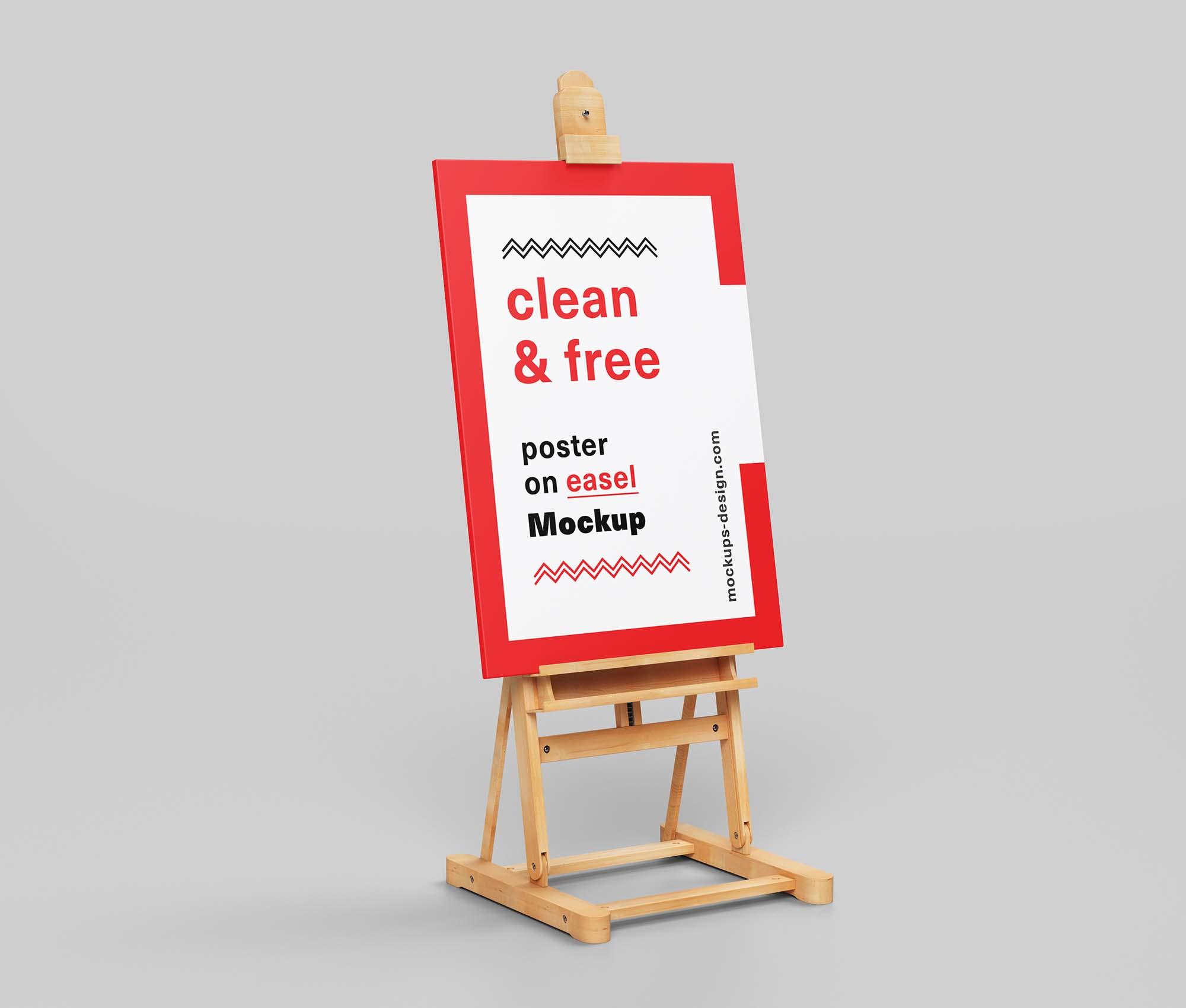 Vertical Poster Easel Mockup