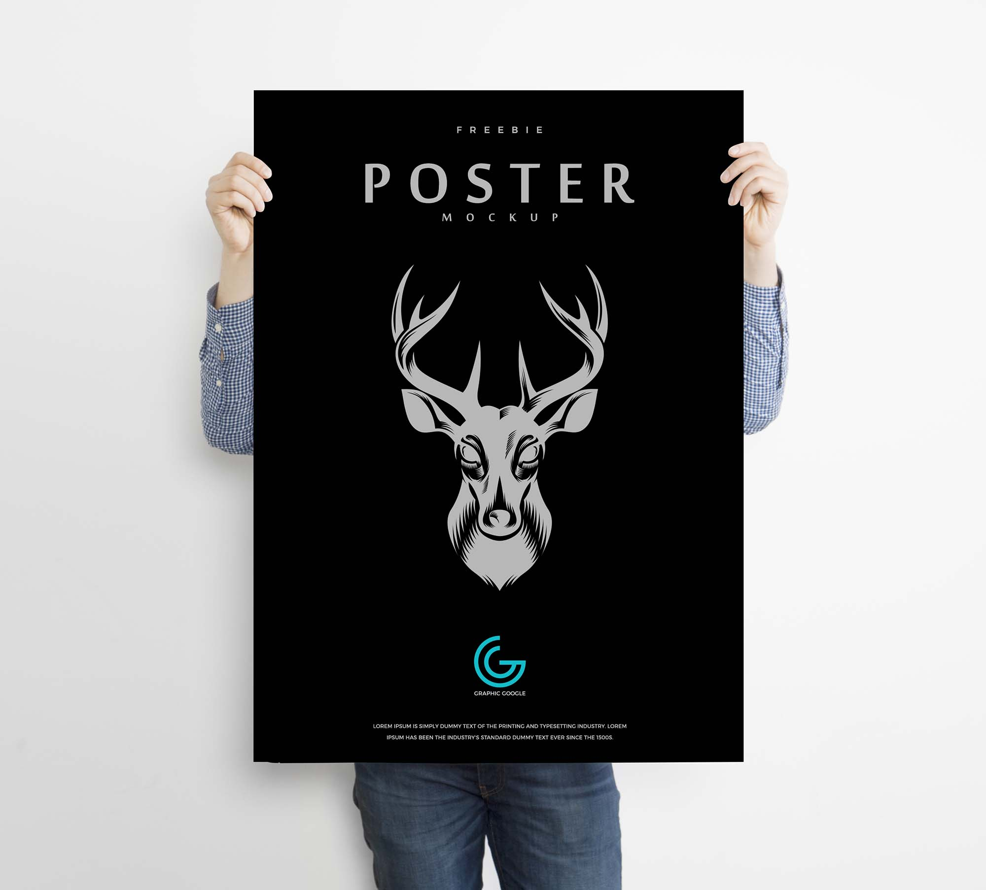 Poster Mockup Held By a Man