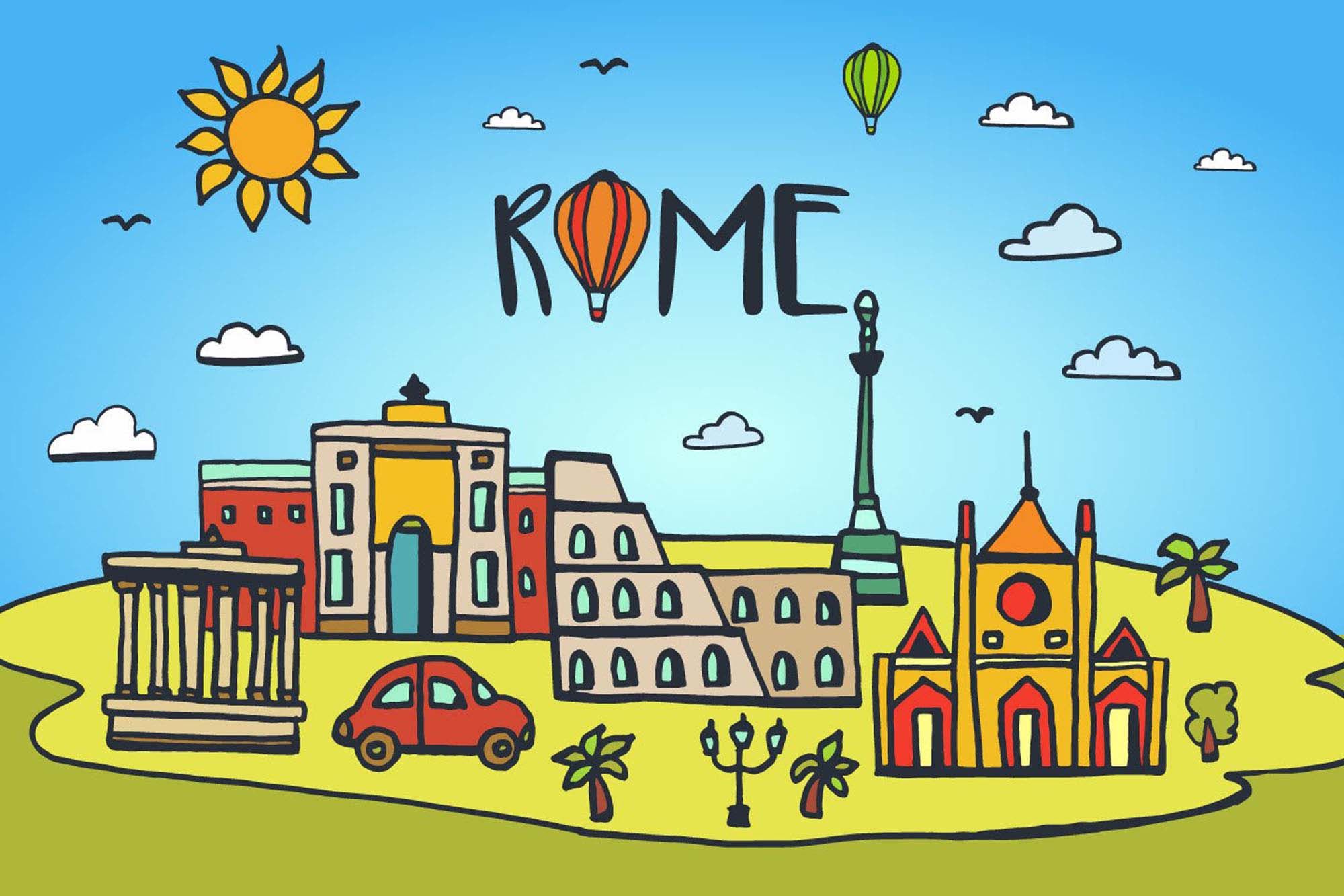 Rome City Illustration