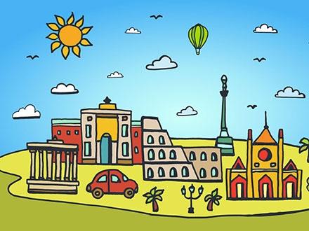 Rome City Illustration