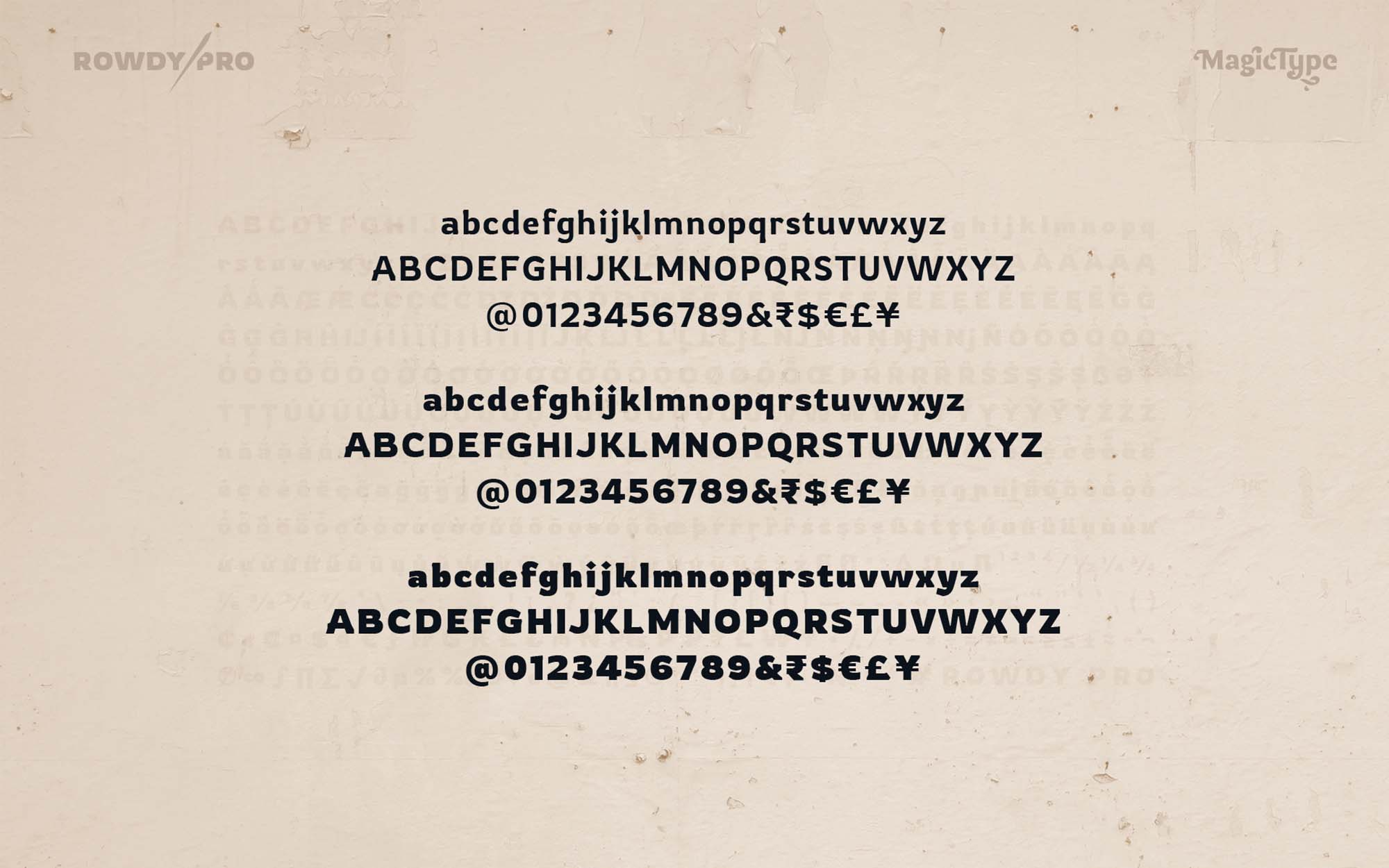 Rowdy Latin Typeface