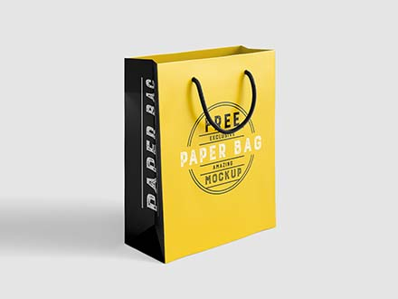 Paper Shopping Bag Mockup