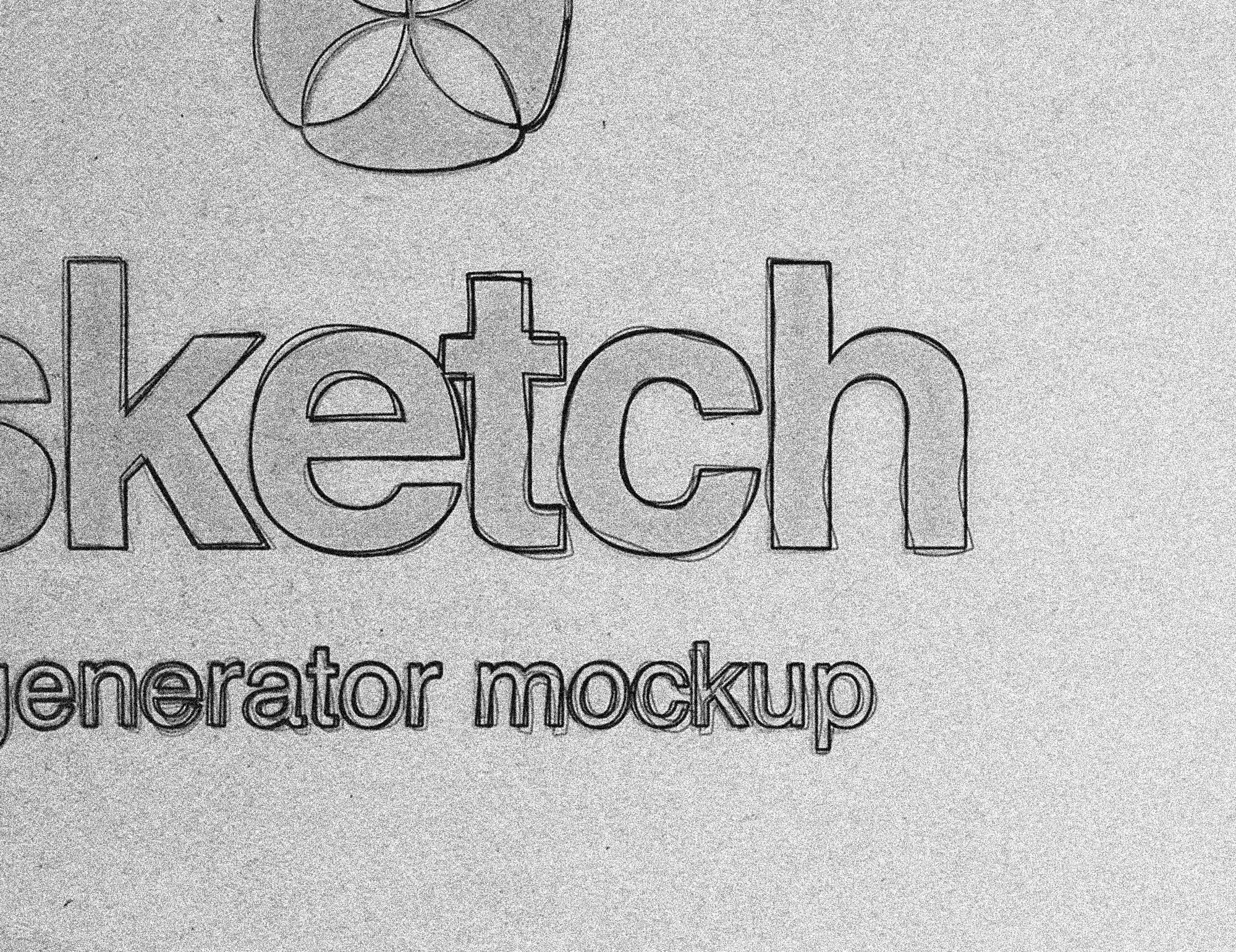 Sketch Effect Mockup