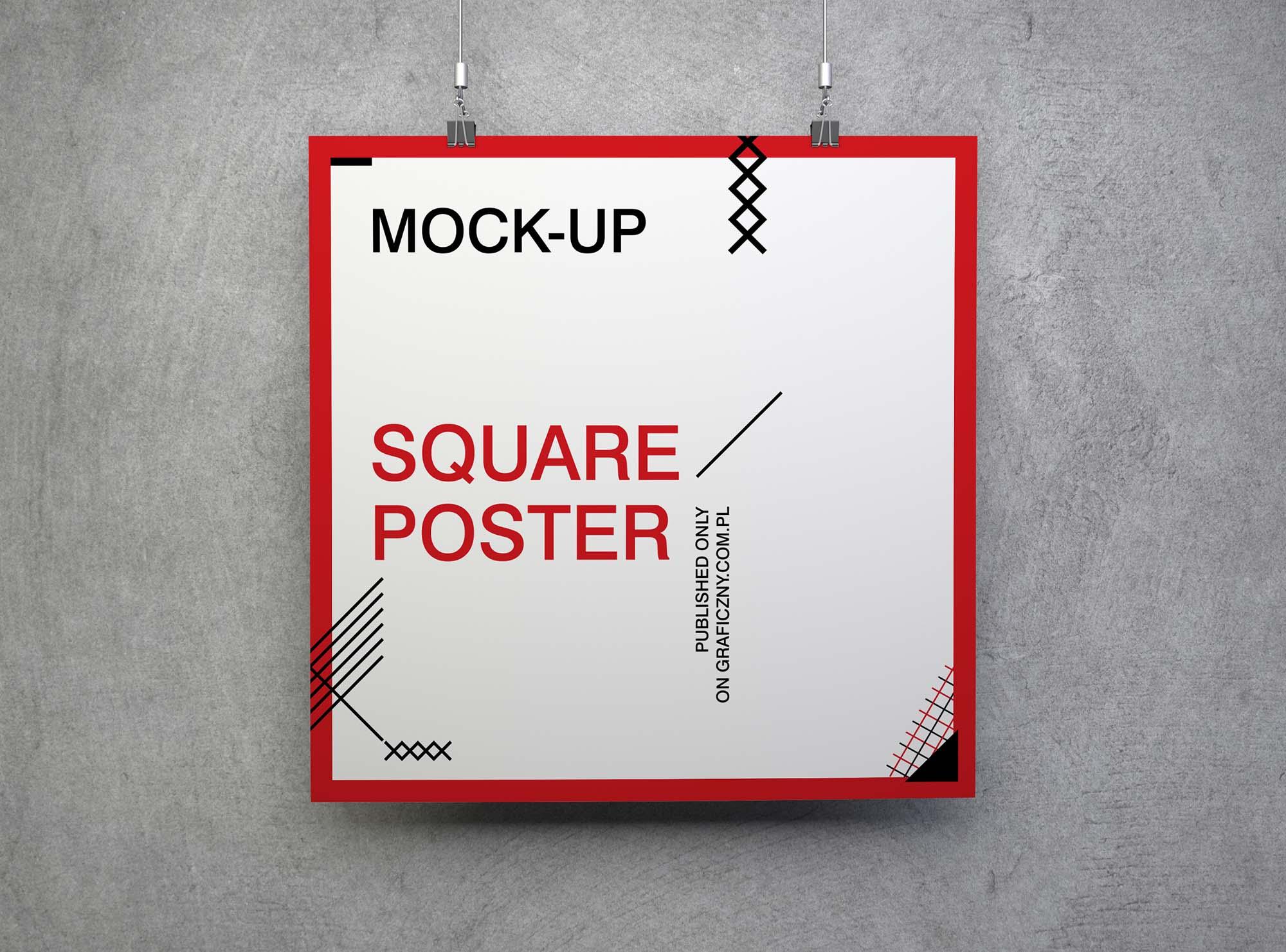 A2 Horizontal Poster Mockup