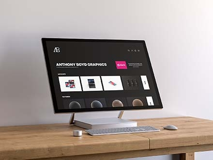 Surface Studio Screen Mockup