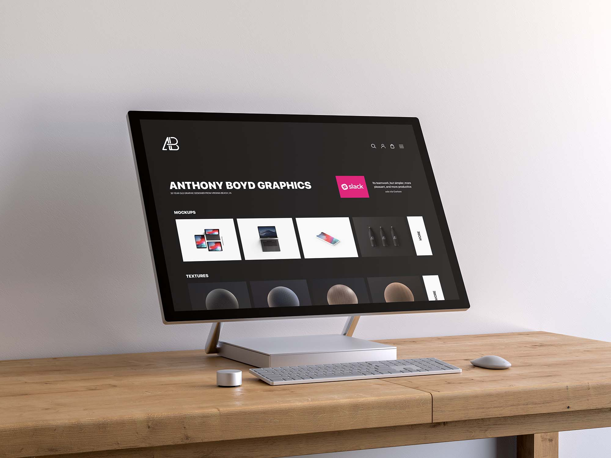 Surface Studio Screen Mockup