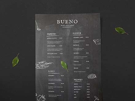 Tapas Menu Template