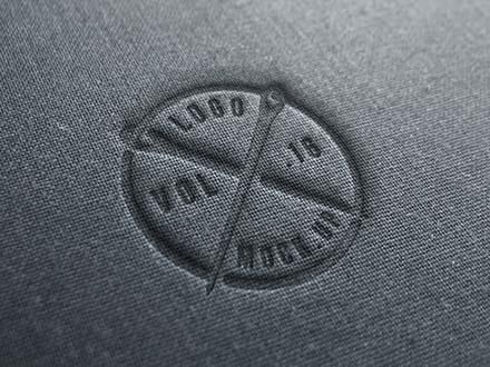 Textile Linen Logo Mockup