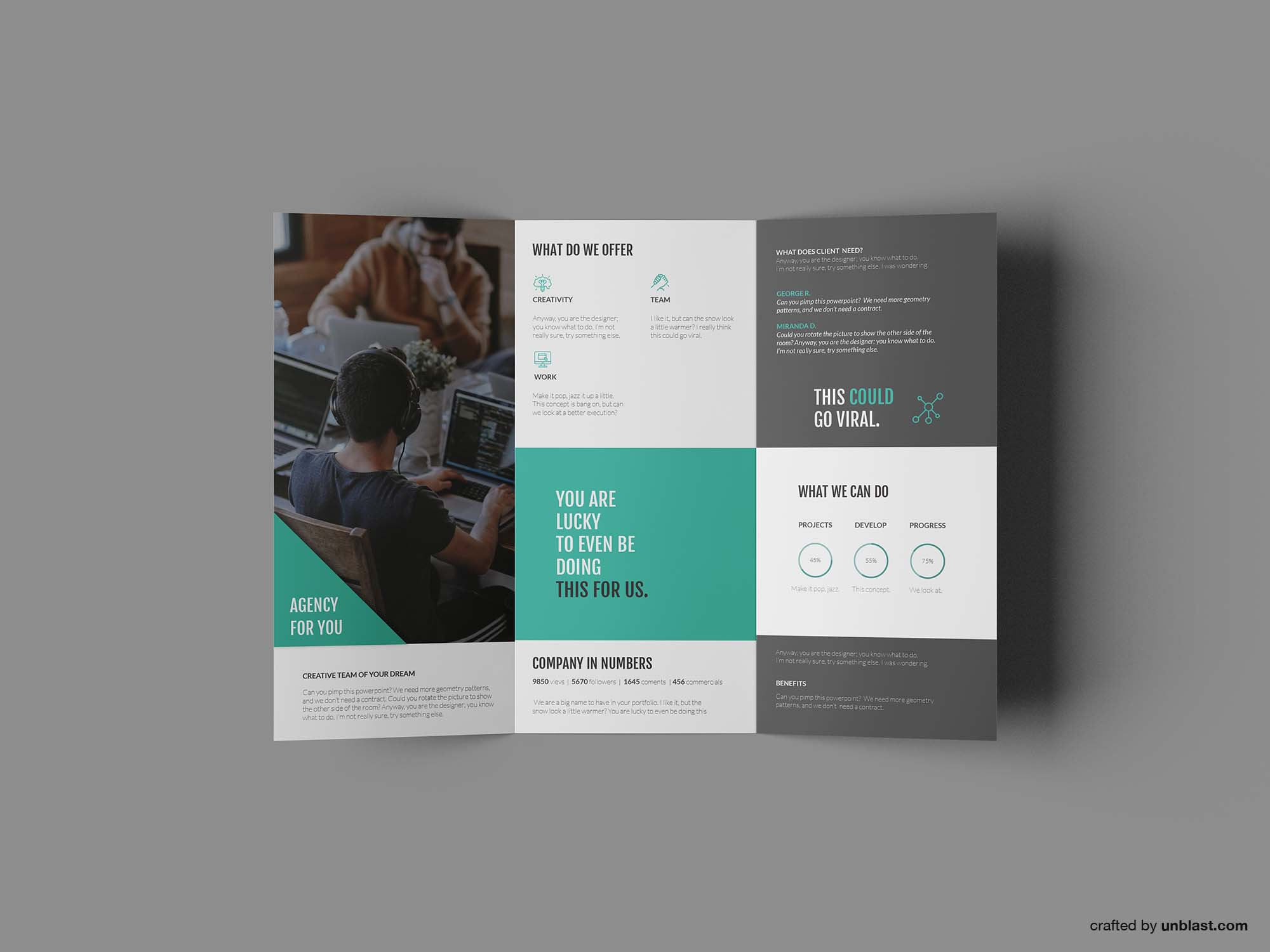 Powerpoint Brochure Template Tri Fold from unblast.com