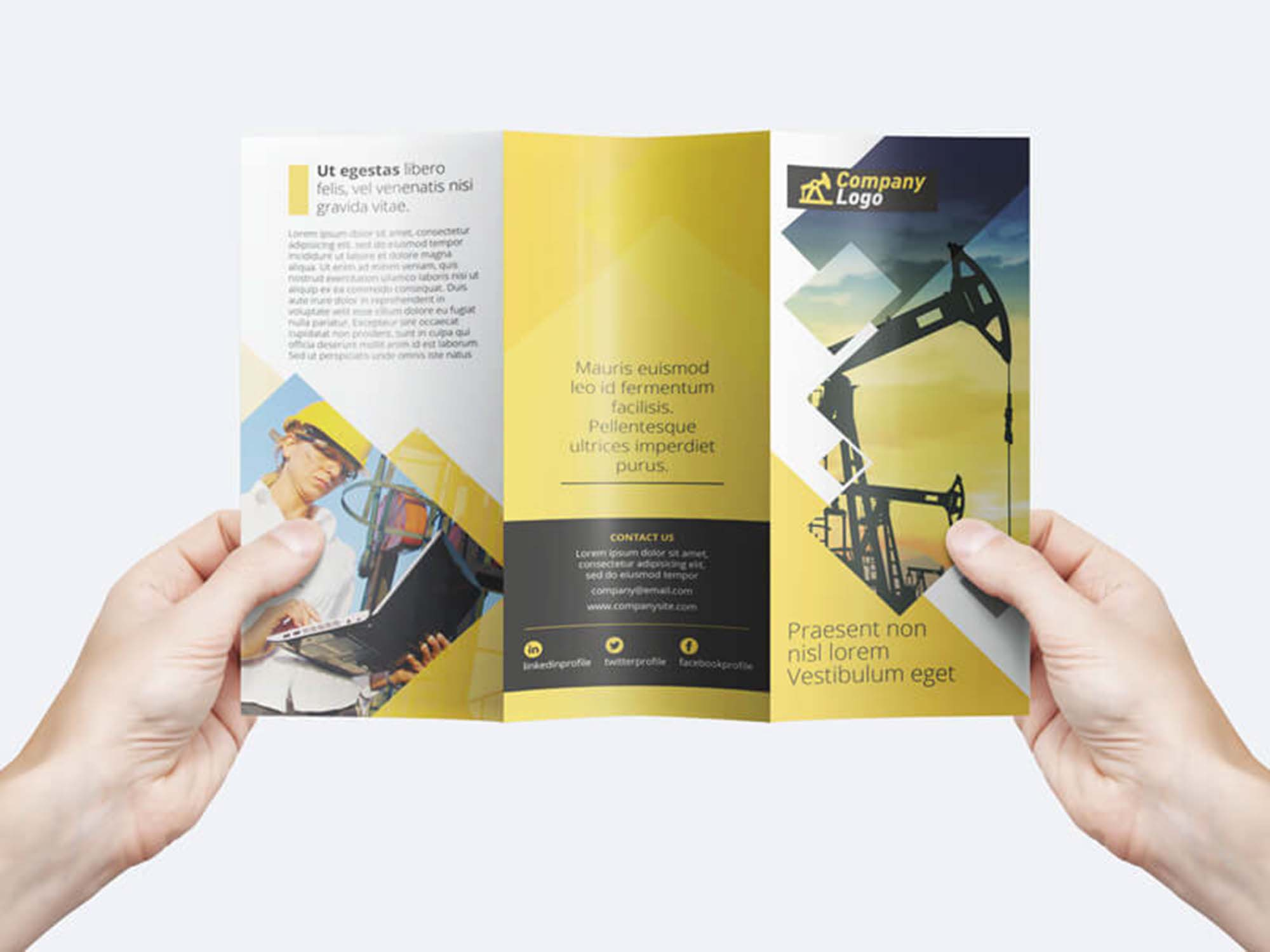 free trifold business flyer template