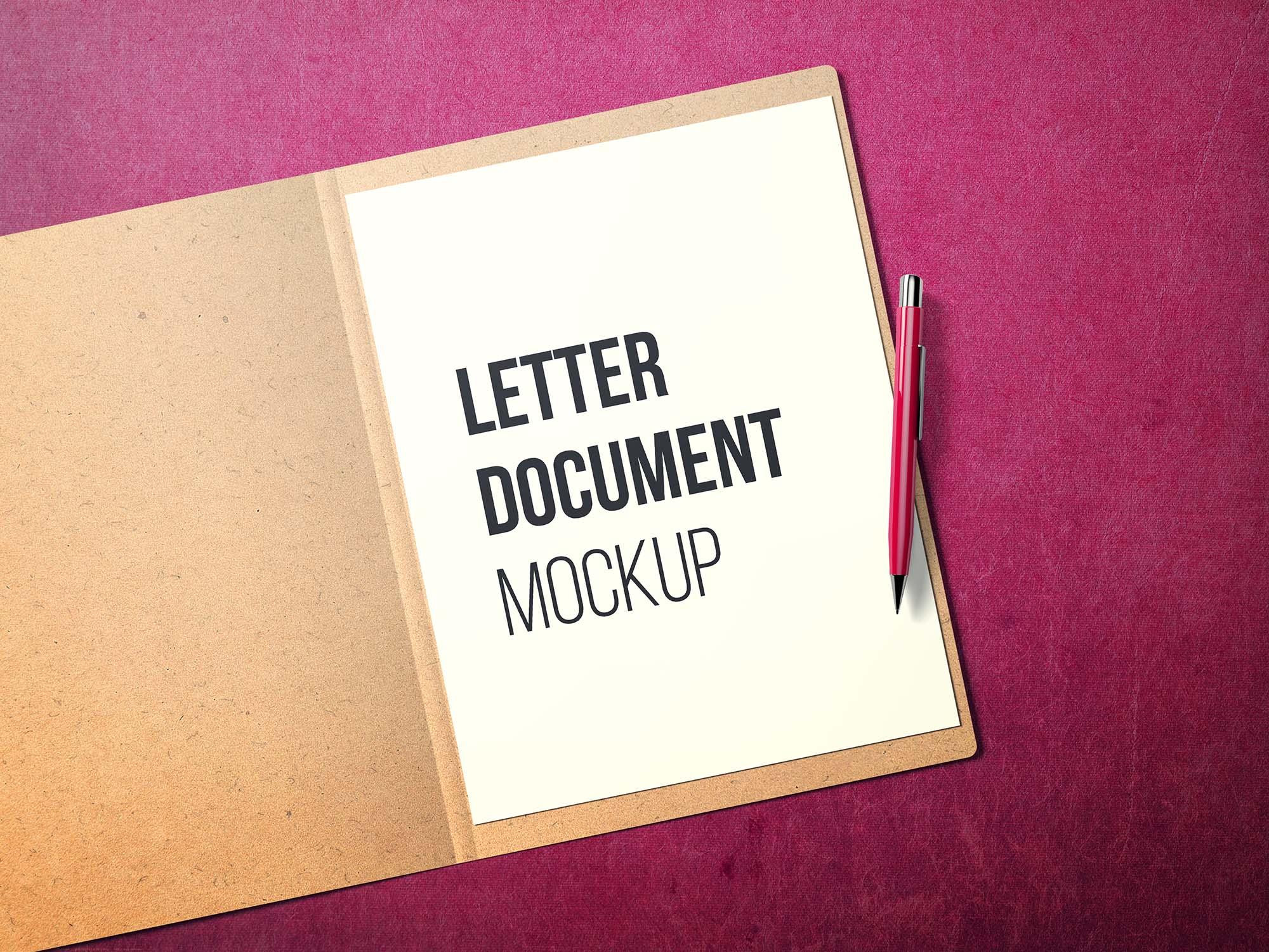 US Letter Document Mockup