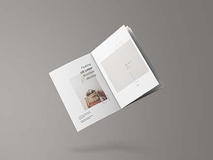 US Letter Brochure Mockup