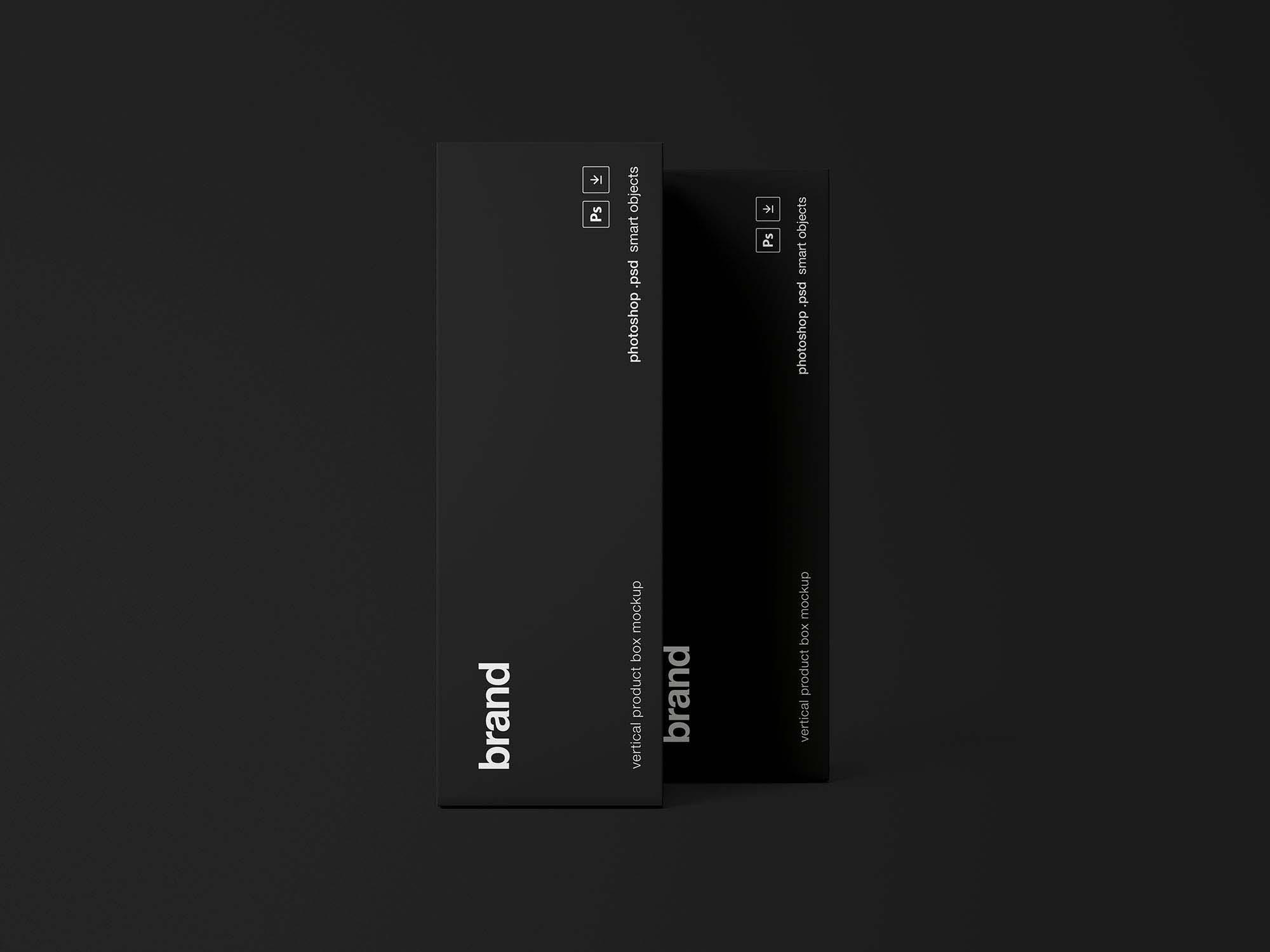 Vertical Product Box Mockup