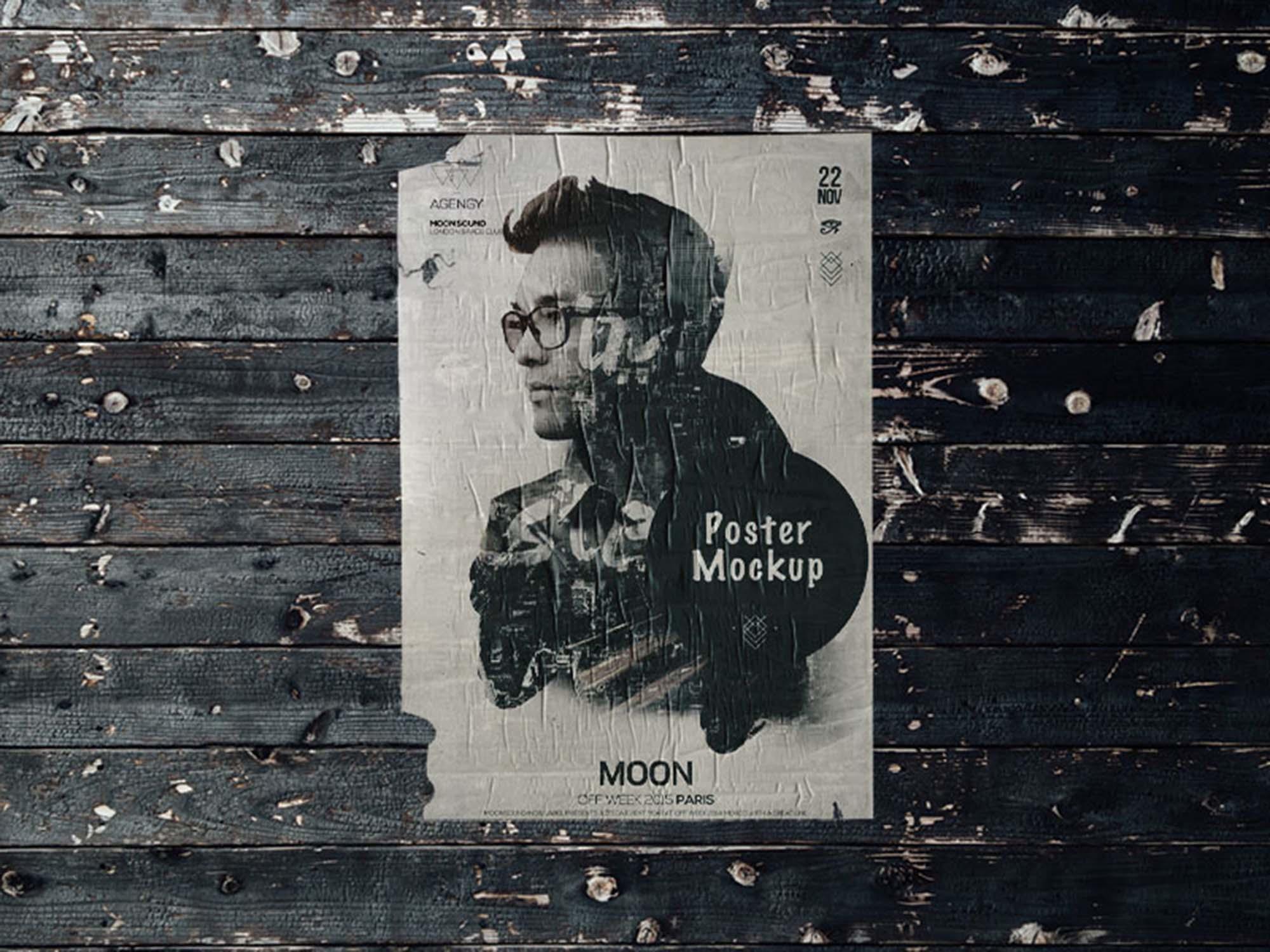 Free Wall Poster Mockup Psd
