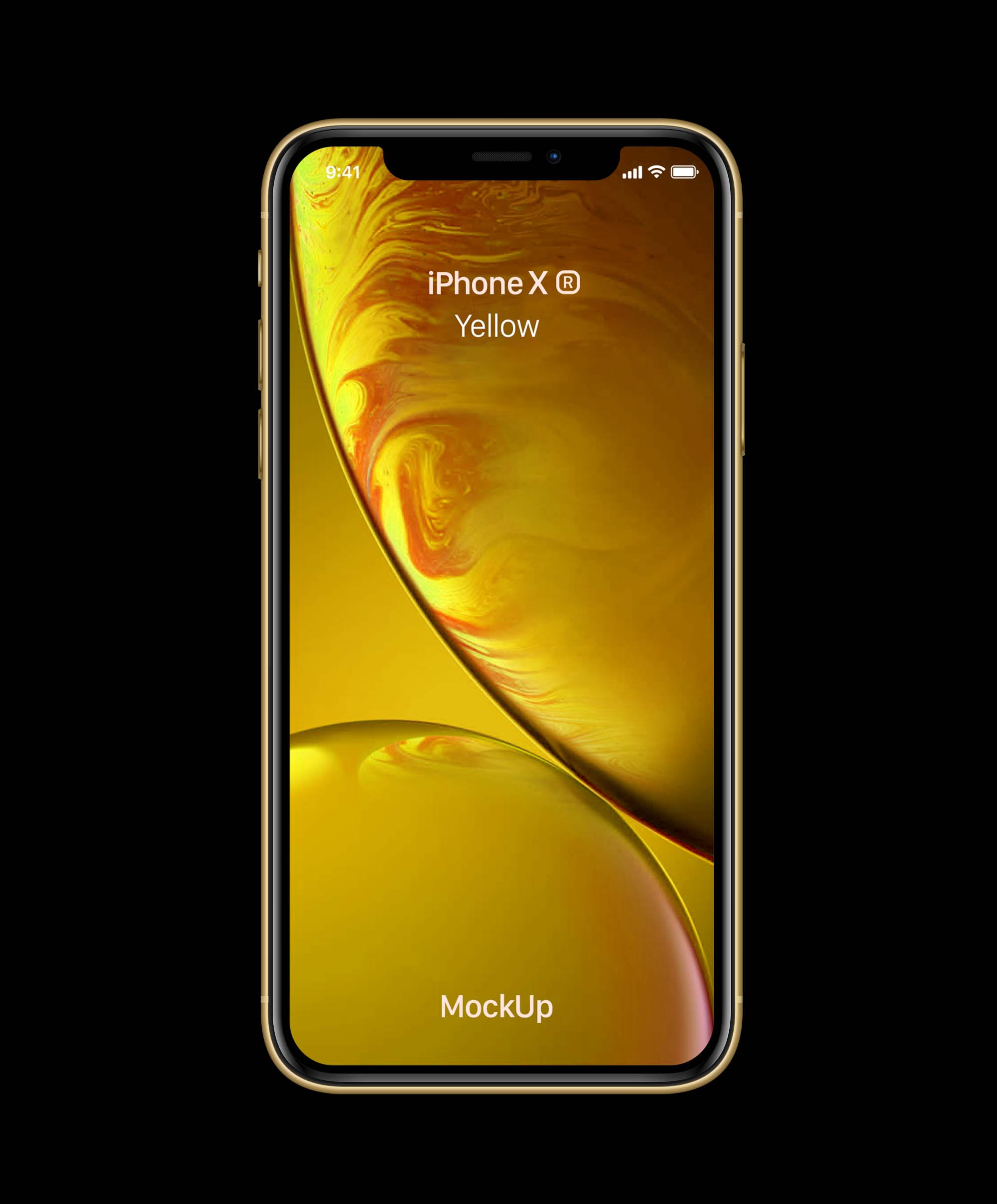 Yellow iPhone XR Mockup
