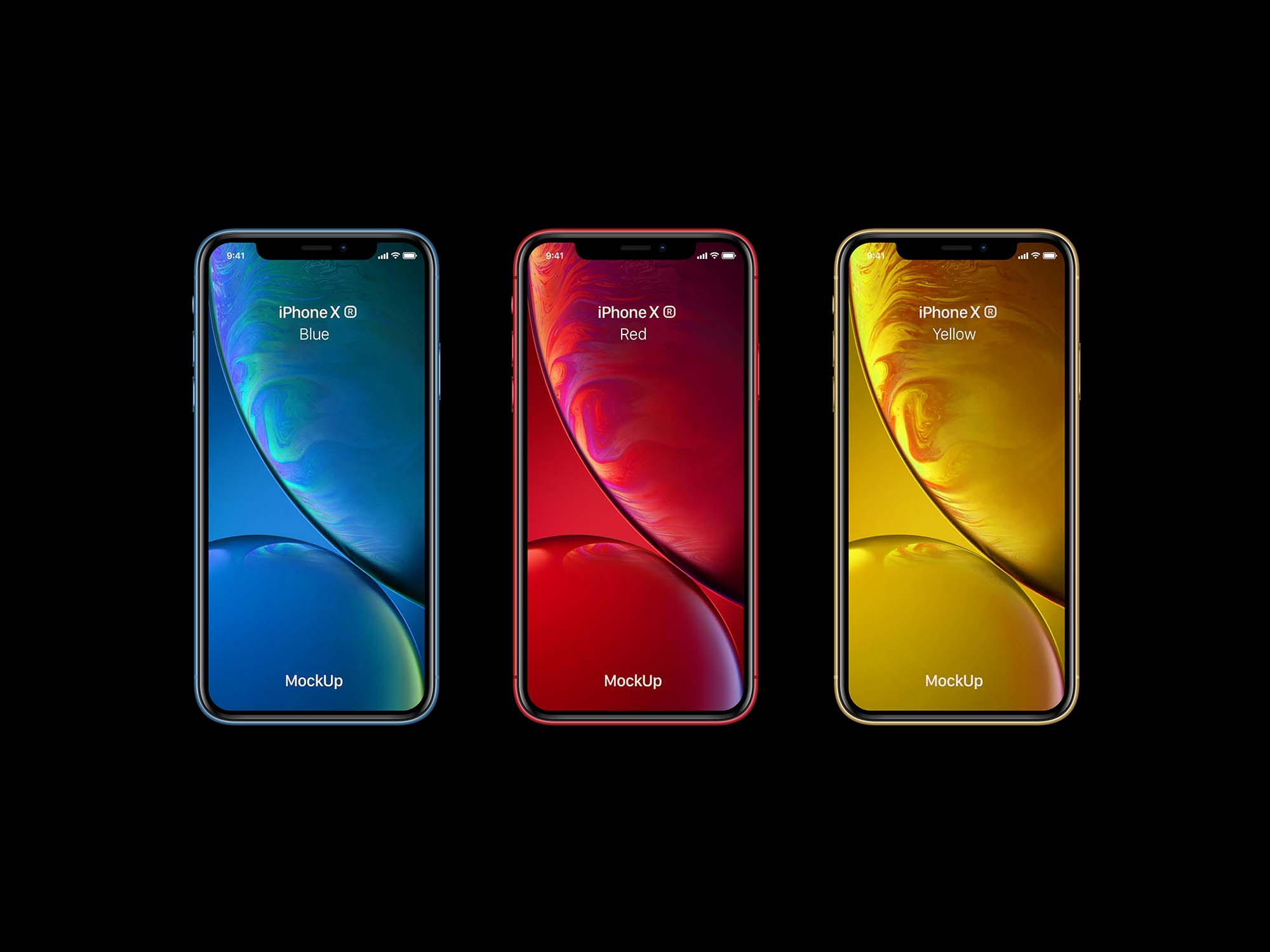 Colored iPhone Xr Mockup
