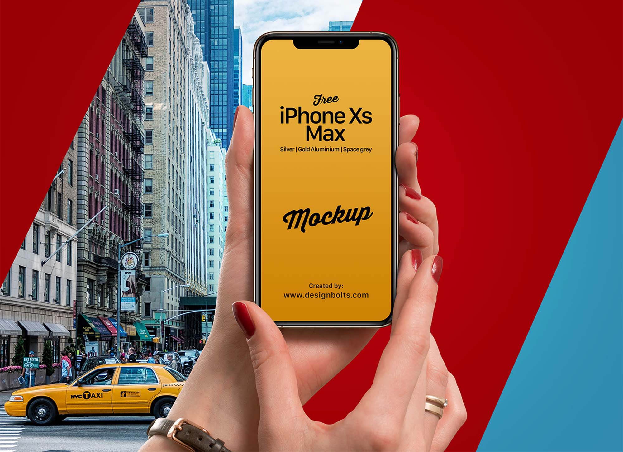 iPhone Xs Max in Hand Mockup