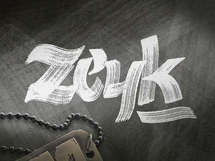 Zeyk Brush Typeface
