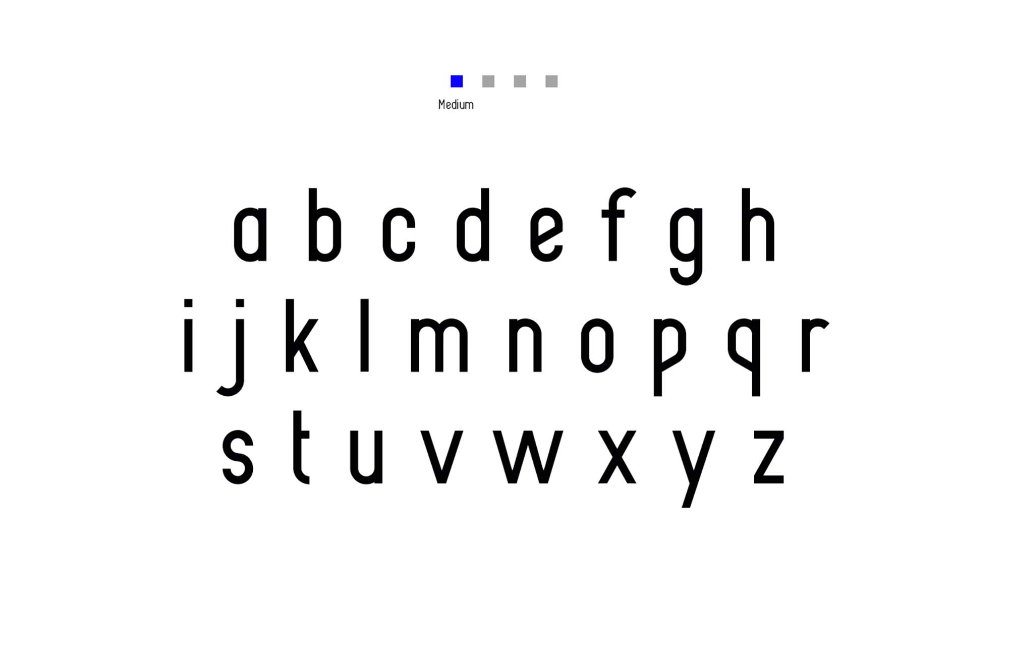 Alpha Font Family Lowercase Medium