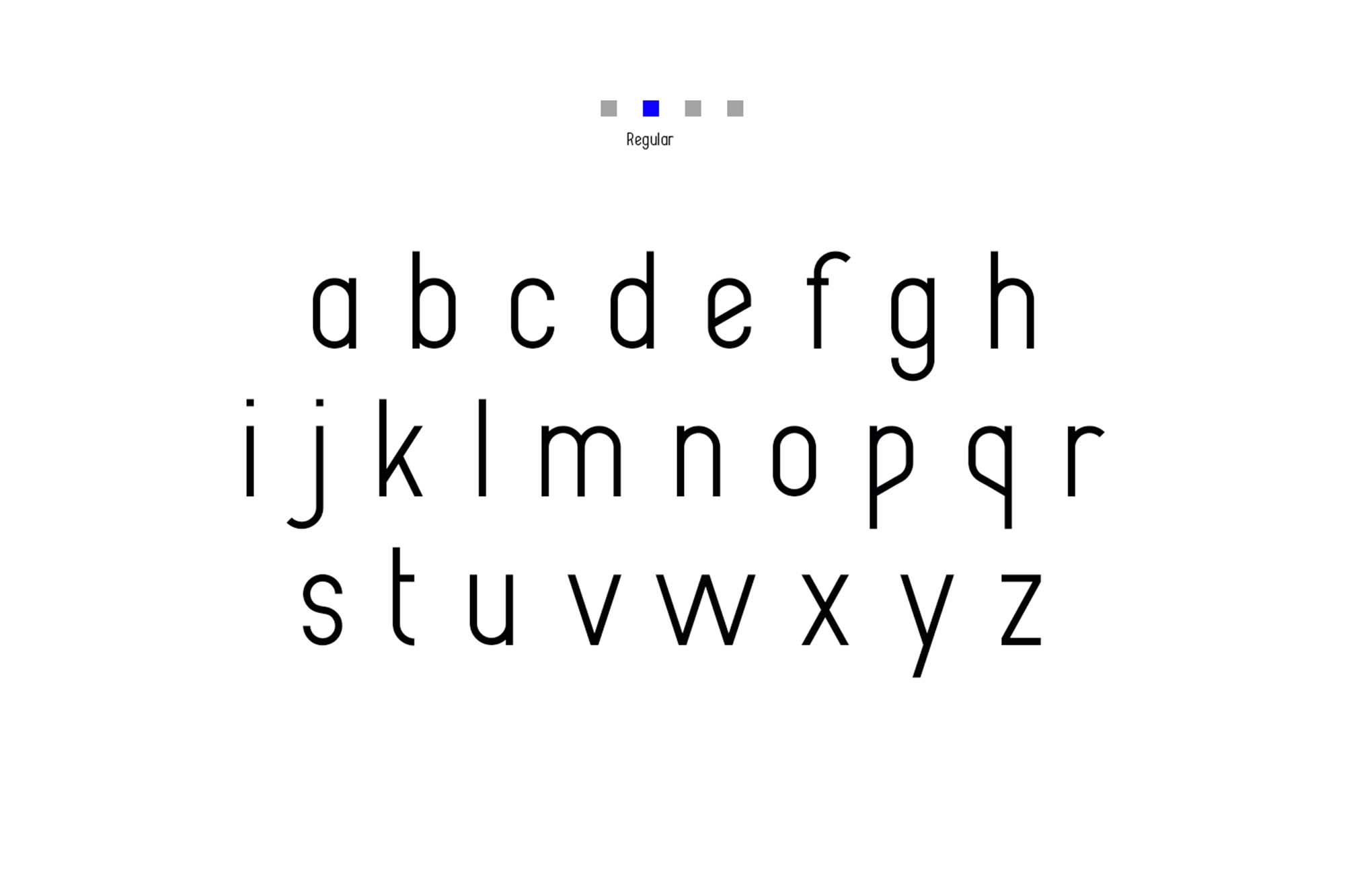 Alpha Font Family Lowercase Regular