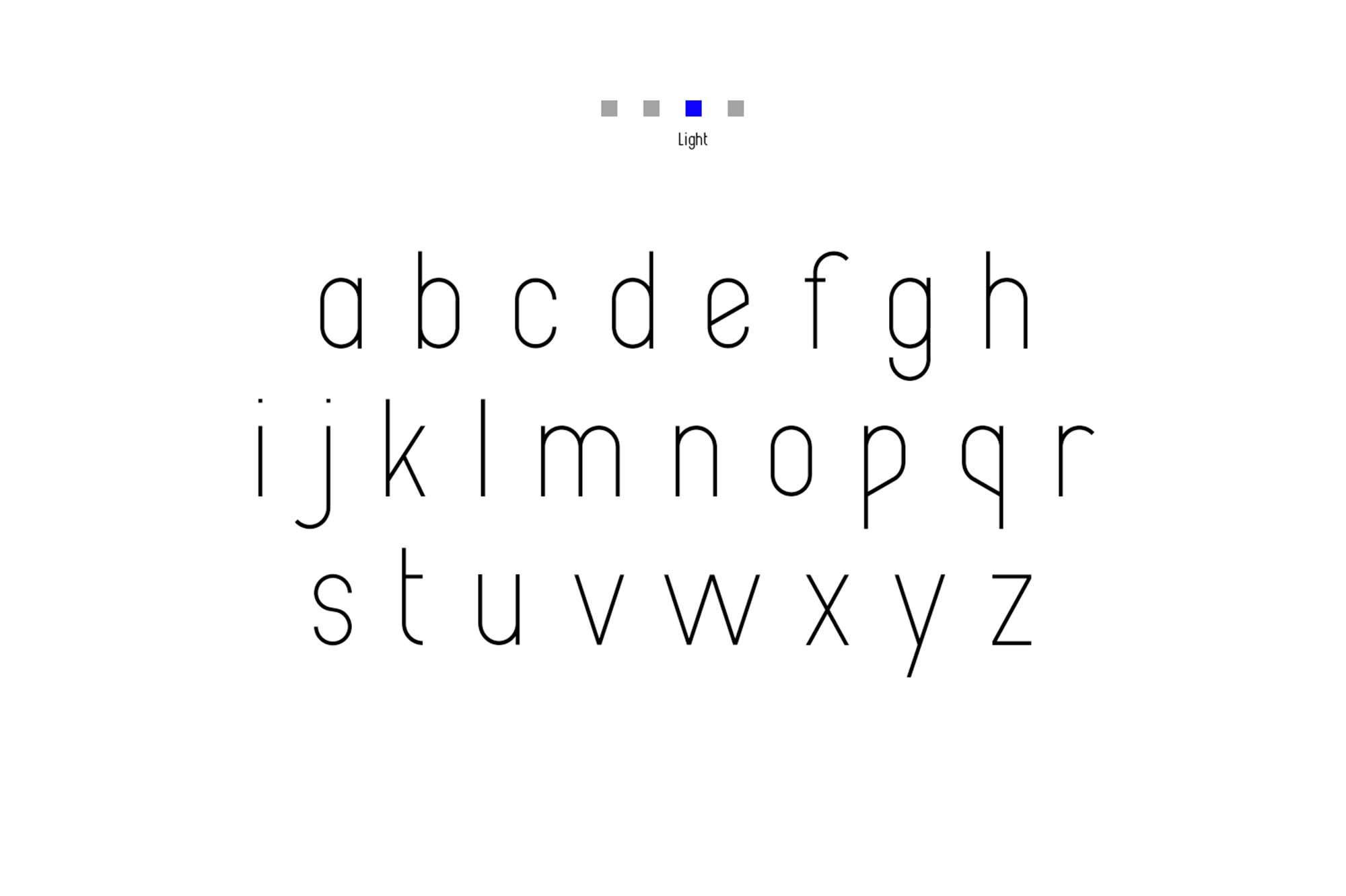 Alpha Font Family Lowercase Light