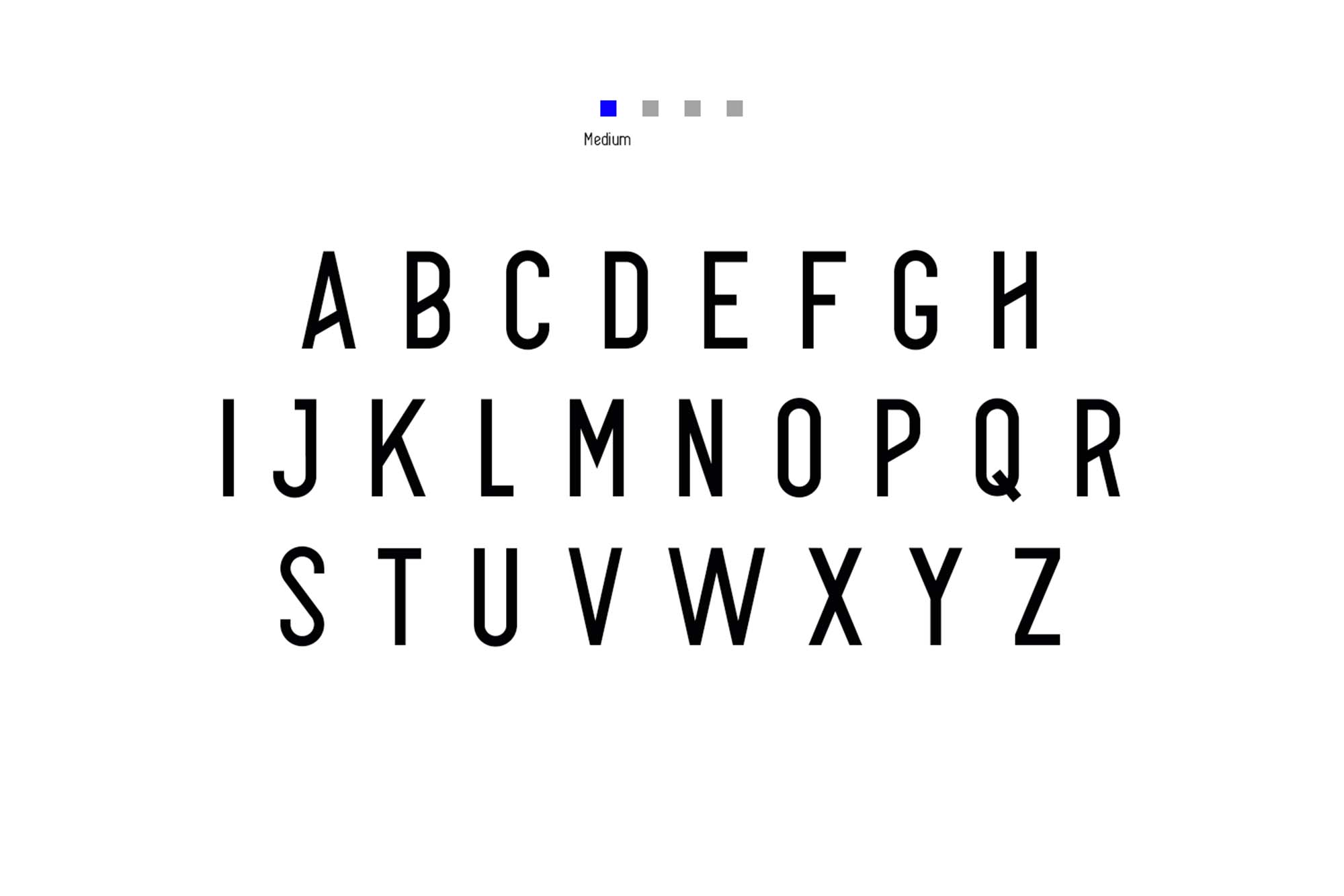 Alpha Font Family Uppercase Medium
