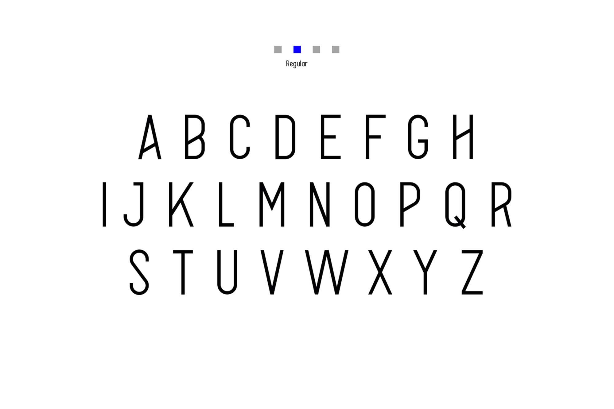 Alpha Font Family Uppercase Regular